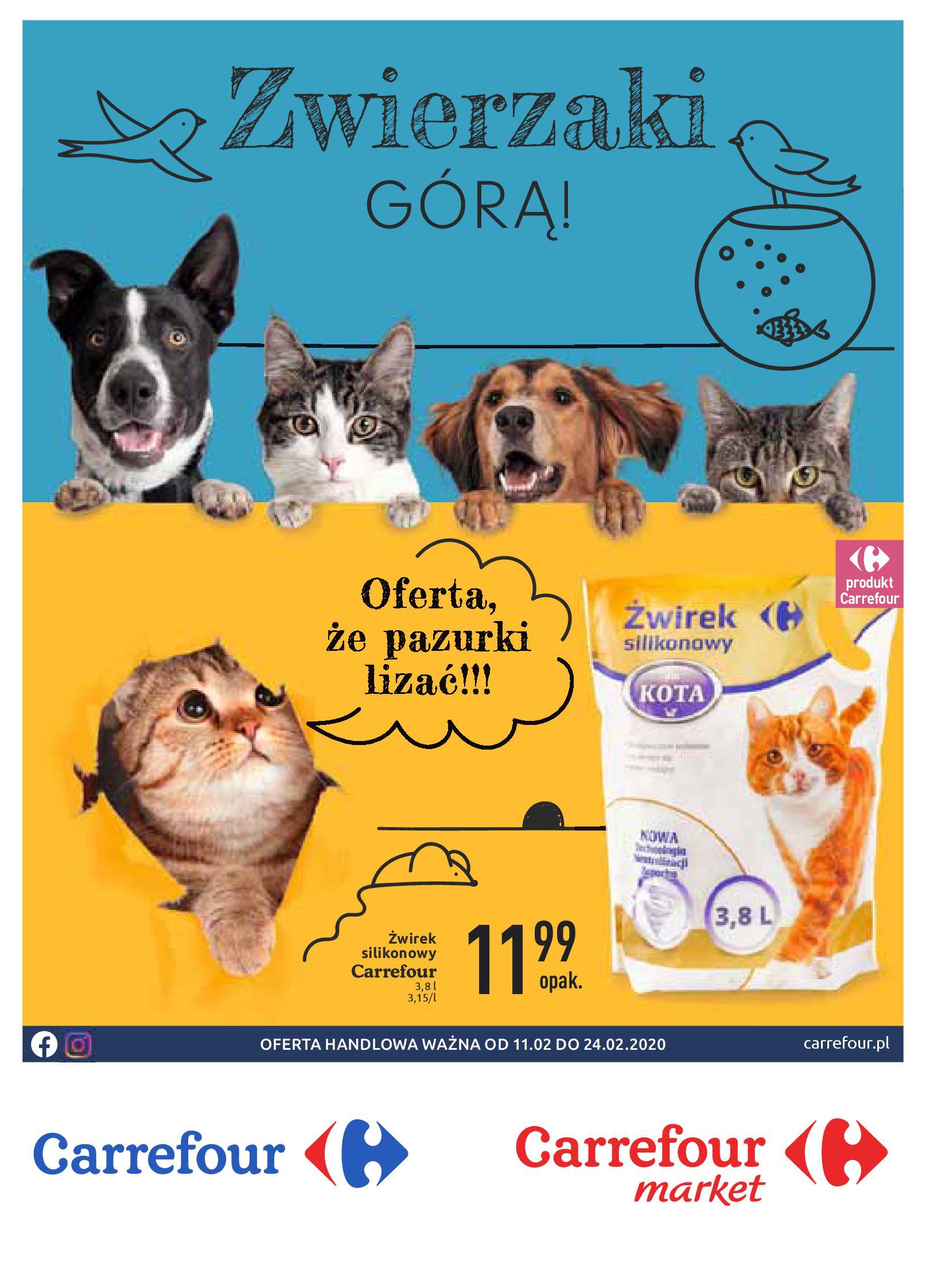 Gazetka Carrefour - Zwierzaki GÓRĄ!-10.02.2020-24.02.2020-page-1