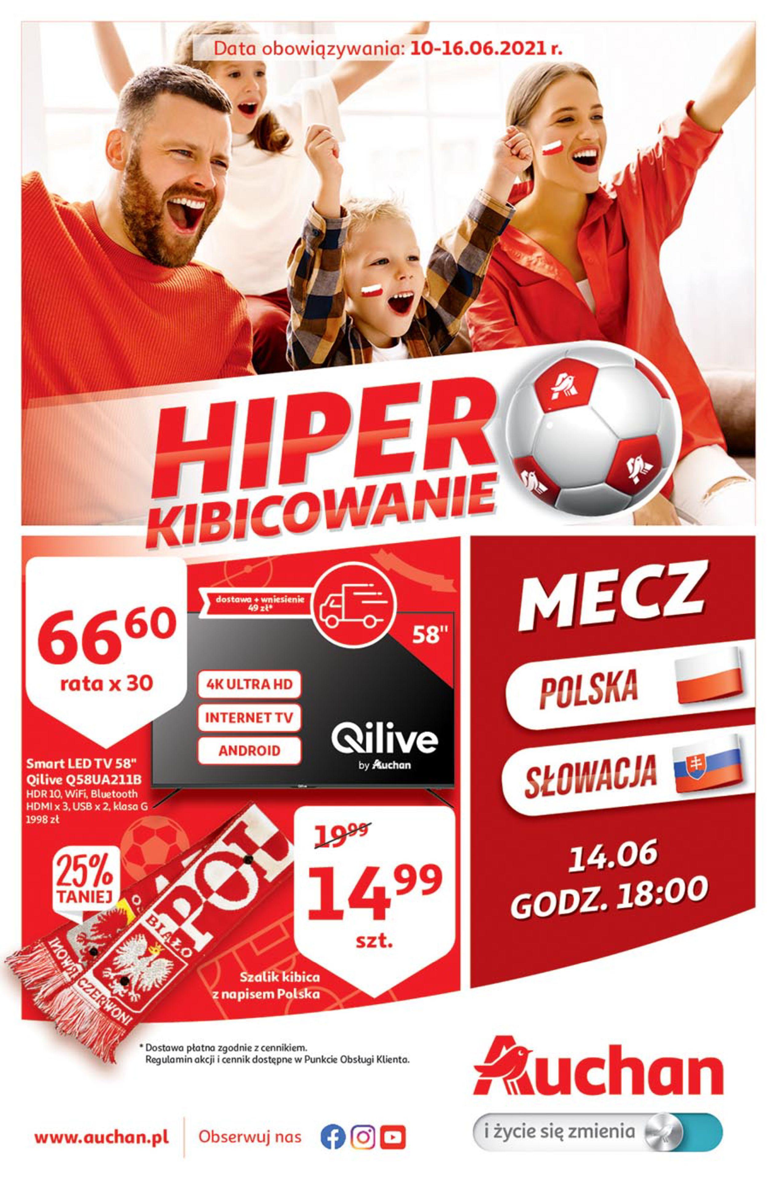 Auchan:  Gazetka Auchan - Euro 2020 09.06.2021