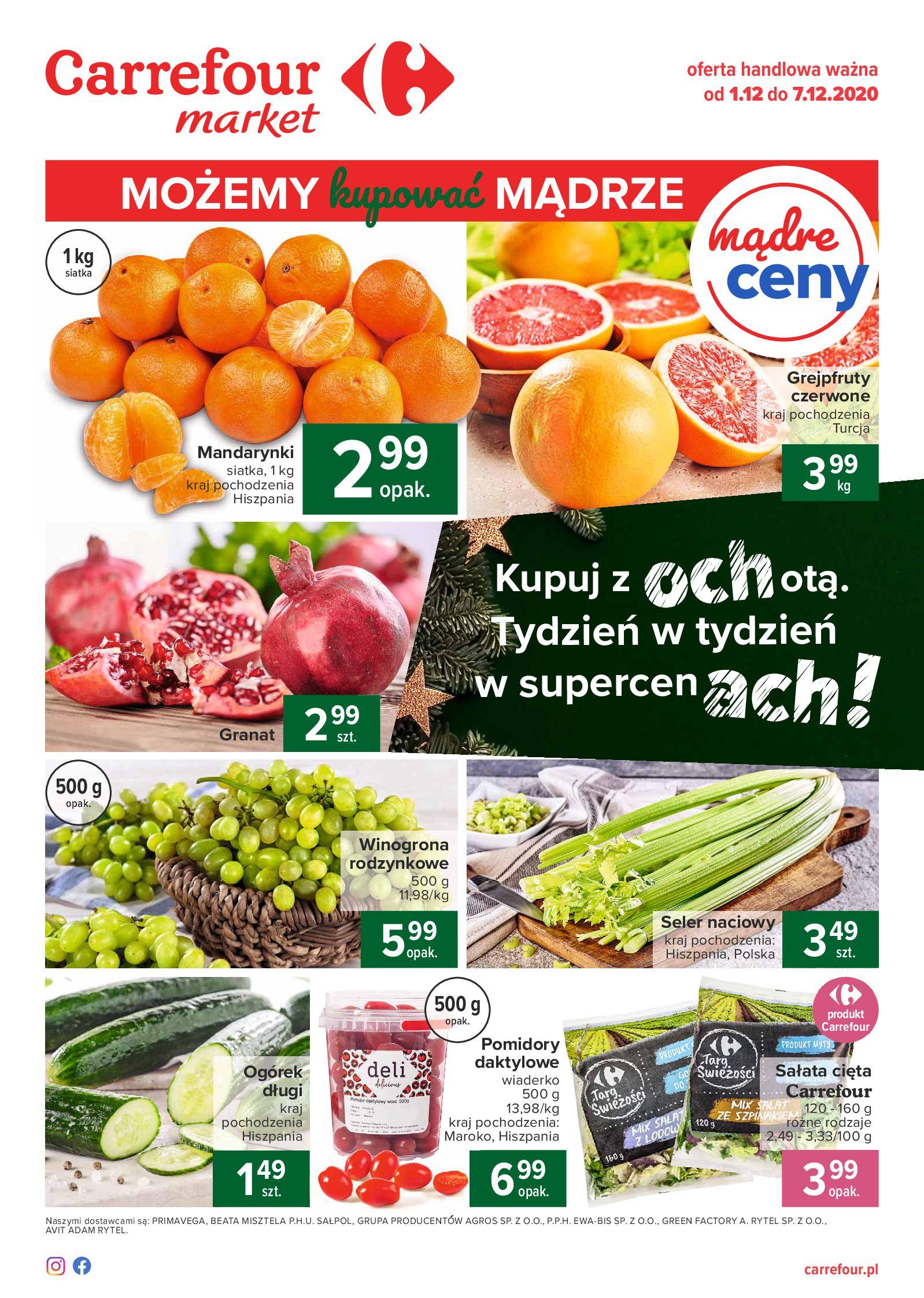 Carrefour Market:  Gazetka promocyjna Market 30.11.2020