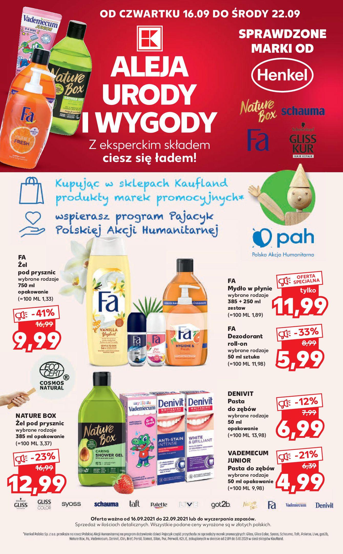 Gazetka Kaufland: Gazetka Kaufland - kosmetyki i chemia 2021-09-16 page-1