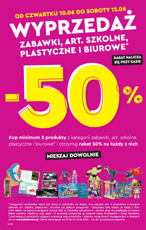 Gazetka Biedronka: Gazetka Biedronka - 10-16.06 2021-06-09 page-54