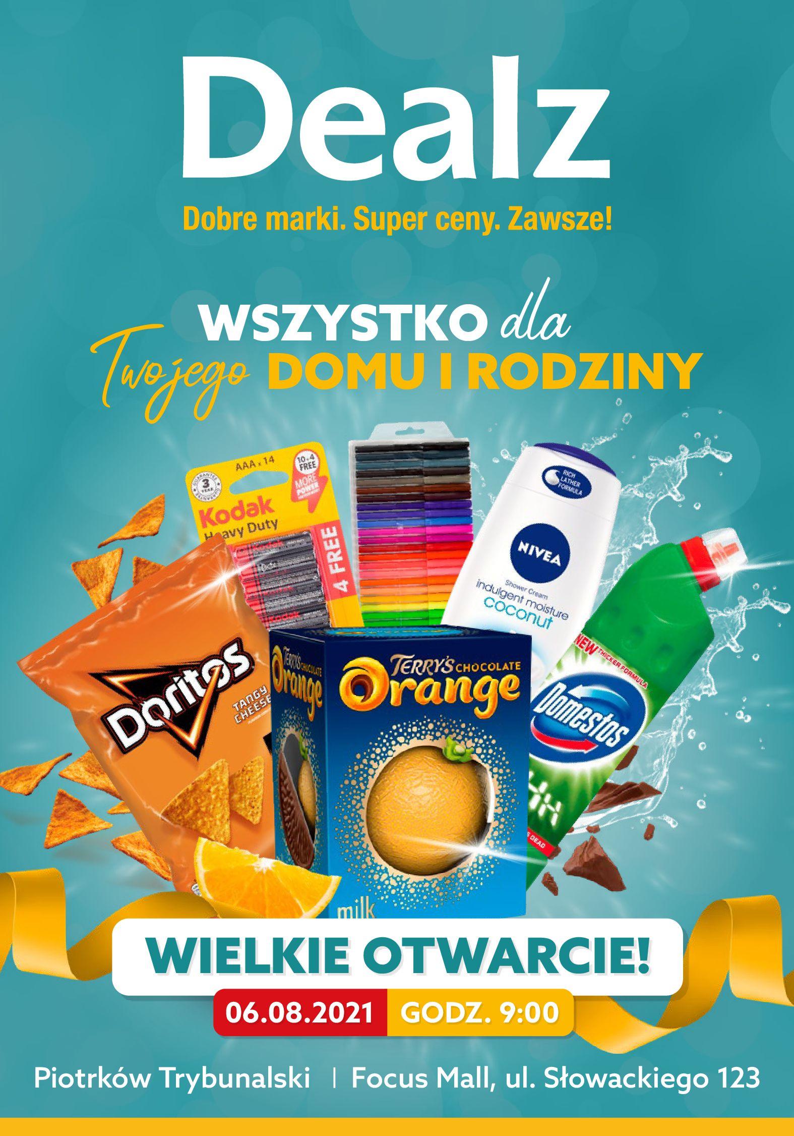 Dealz :  Gazetka Dealz - Otwarcie Piotrków Trybunalski 05.08.2021