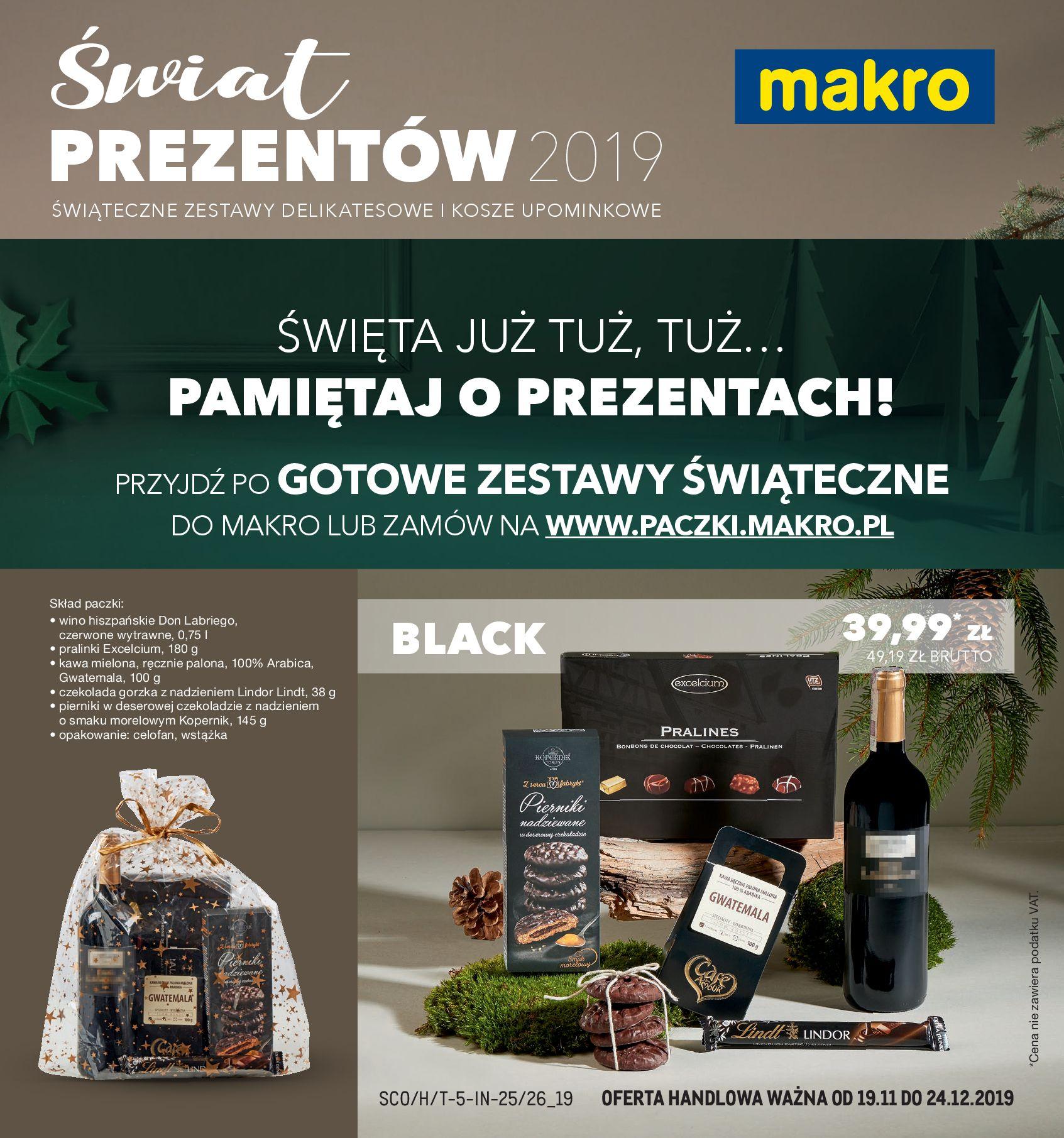Gazetka Makro - GOTOWE ZESTAWY ŚWIĄTECZNE-18.11.2019-24.12.2019-page-1