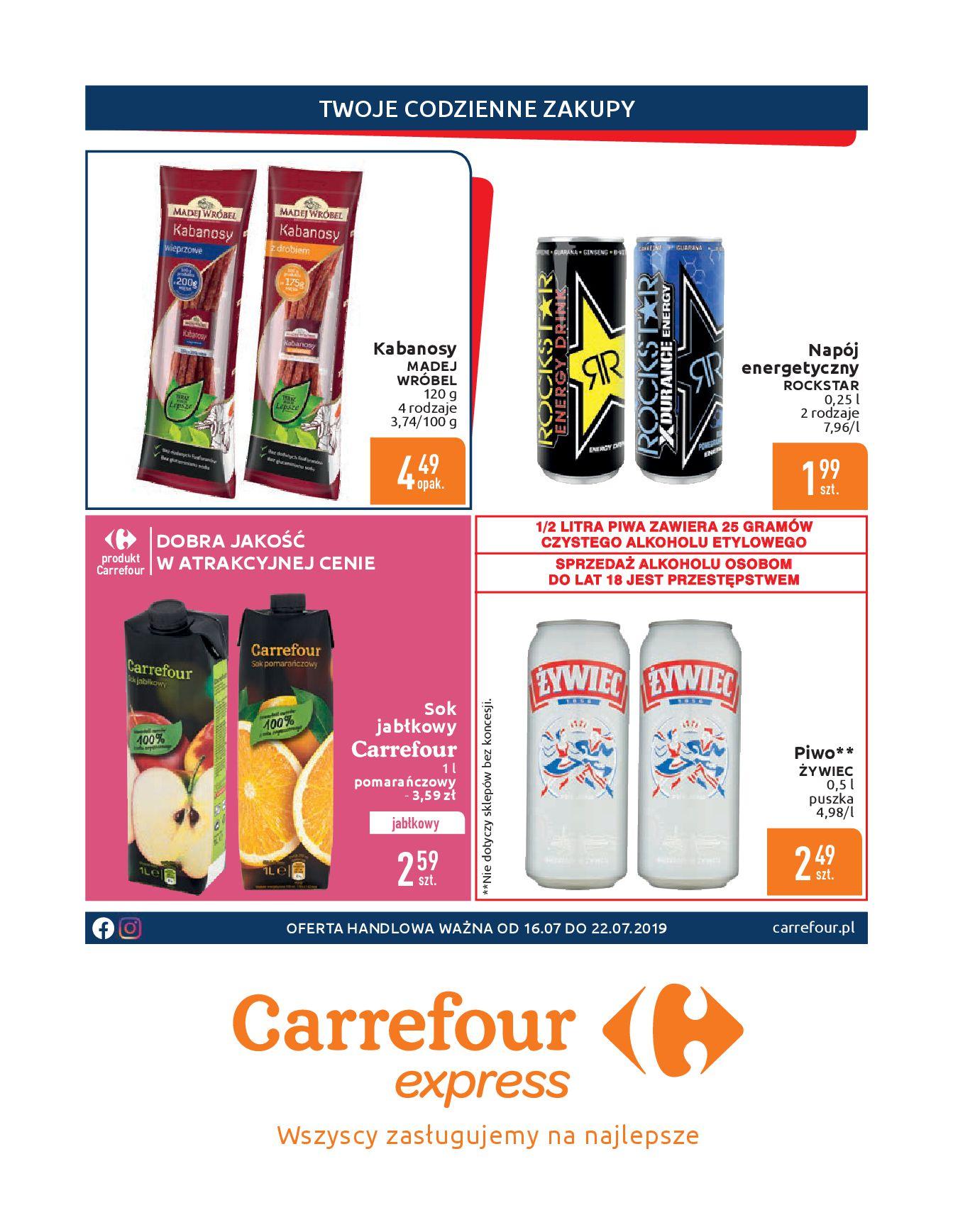 Gazetka Carrefour Express - Gdy zakupy rosną, to ceny maleją ekspresowo-15.07.2019-22.07.2019-page-