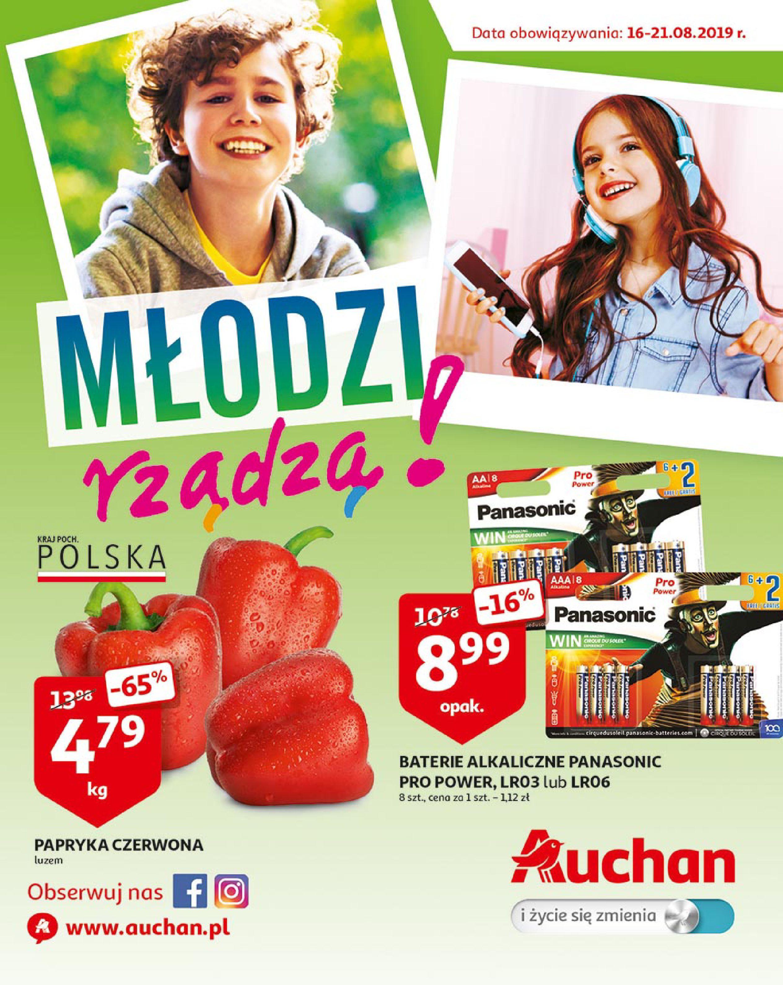 Gazetka Auchan - Młodzi rządzą-15.08.2019-21.08.2019-page-1