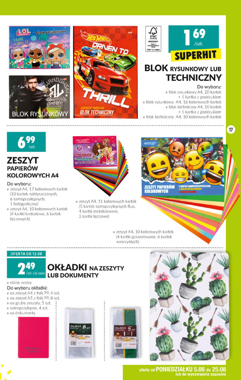 Gazetka Biedronka - Szkolna wyprawka-04.08.2019-25.08.2019-page-17