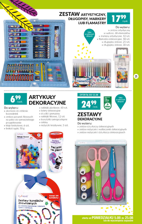 Gazetka Biedronka - Szkolna wyprawka-04.08.2019-25.08.2019-page-21