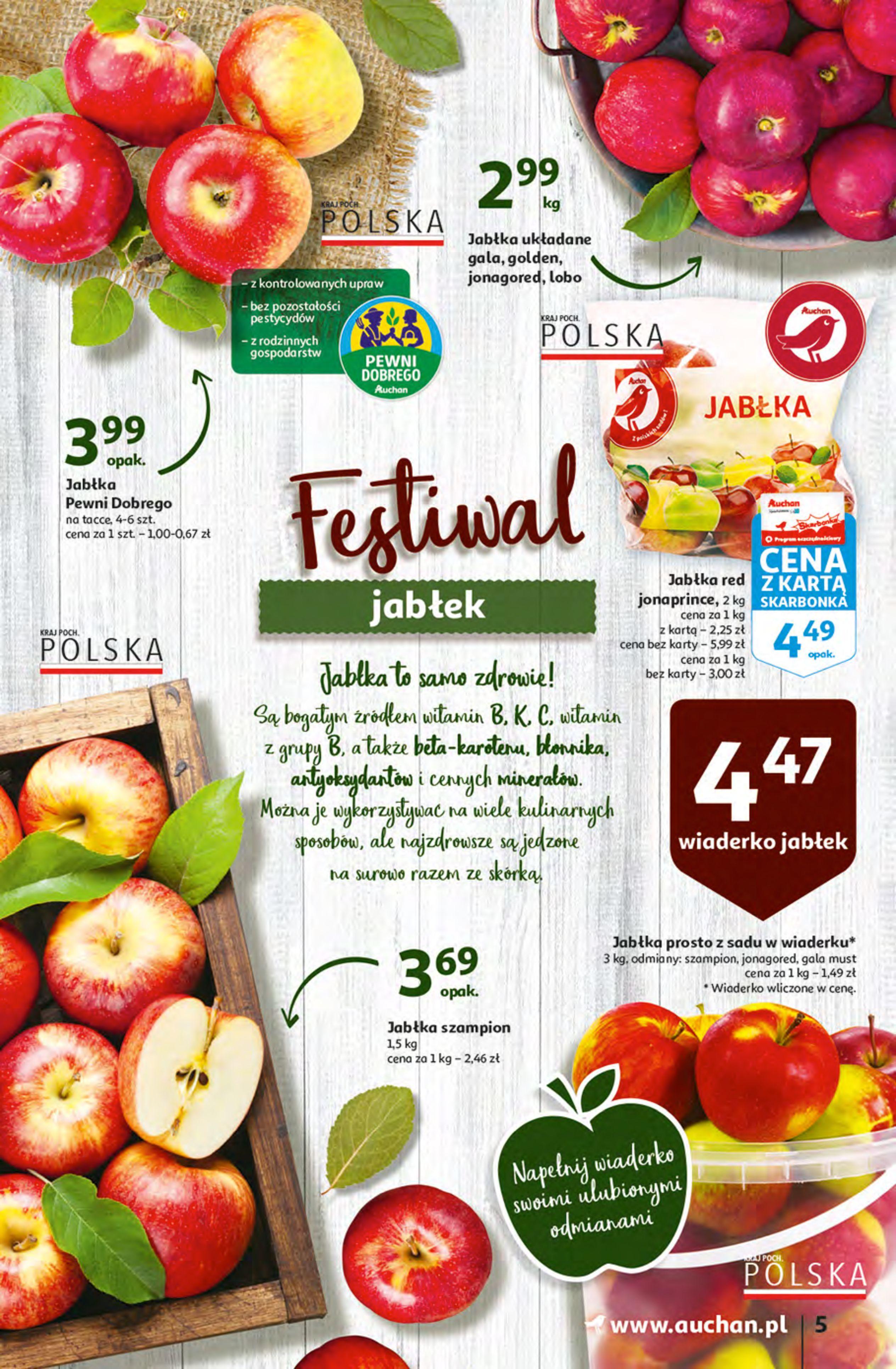 Gazetka Auchan: Gazetka Auchan - Hiperoszczędzanie z Kartą Skarbonka 2 Hipermarkety 2021-10-14 page-5