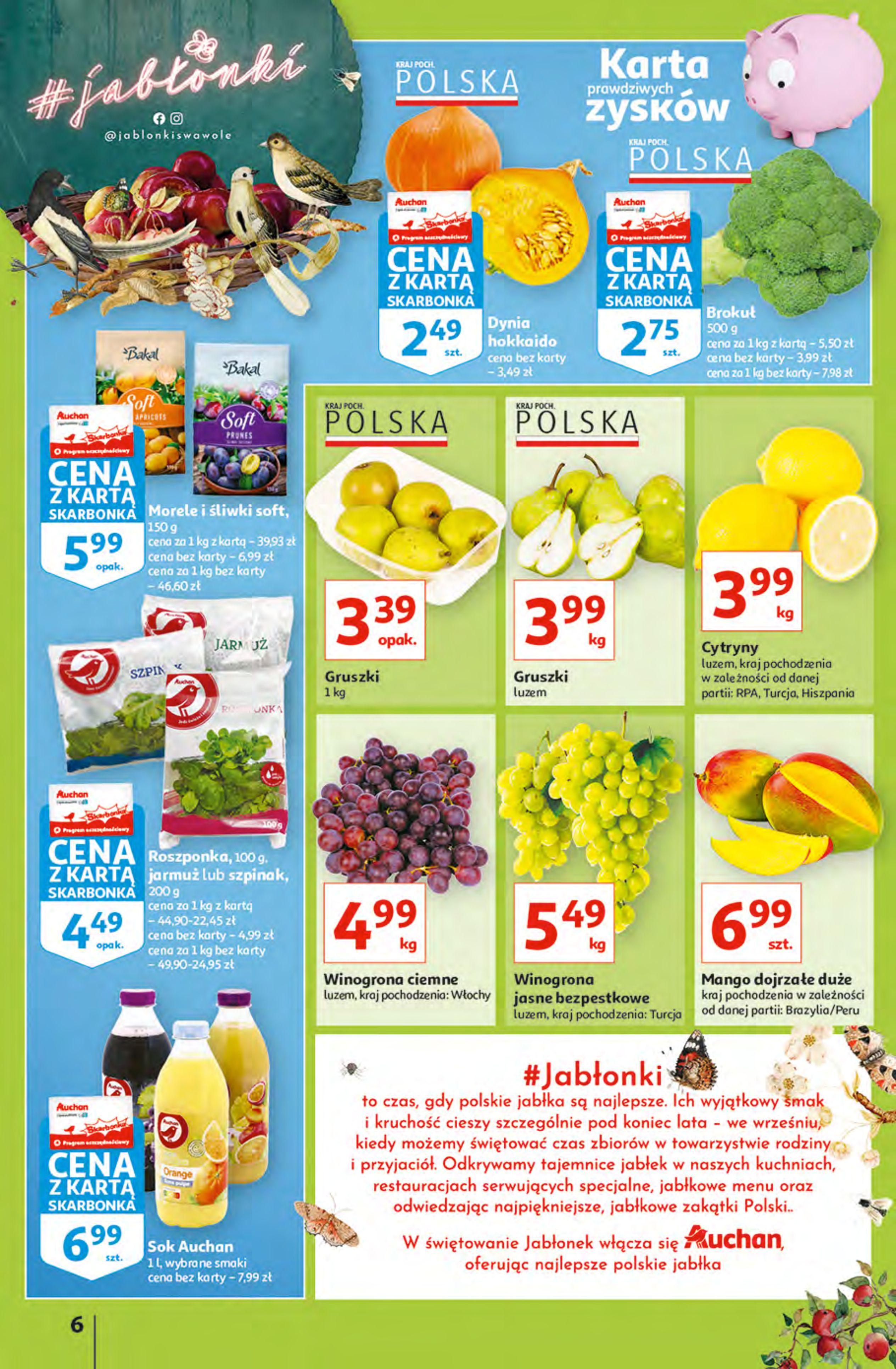 Gazetka Auchan: Gazetka Auchan - Hiperoszczędzanie z Kartą Skarbonka 2 Hipermarkety 2021-10-14 page-6