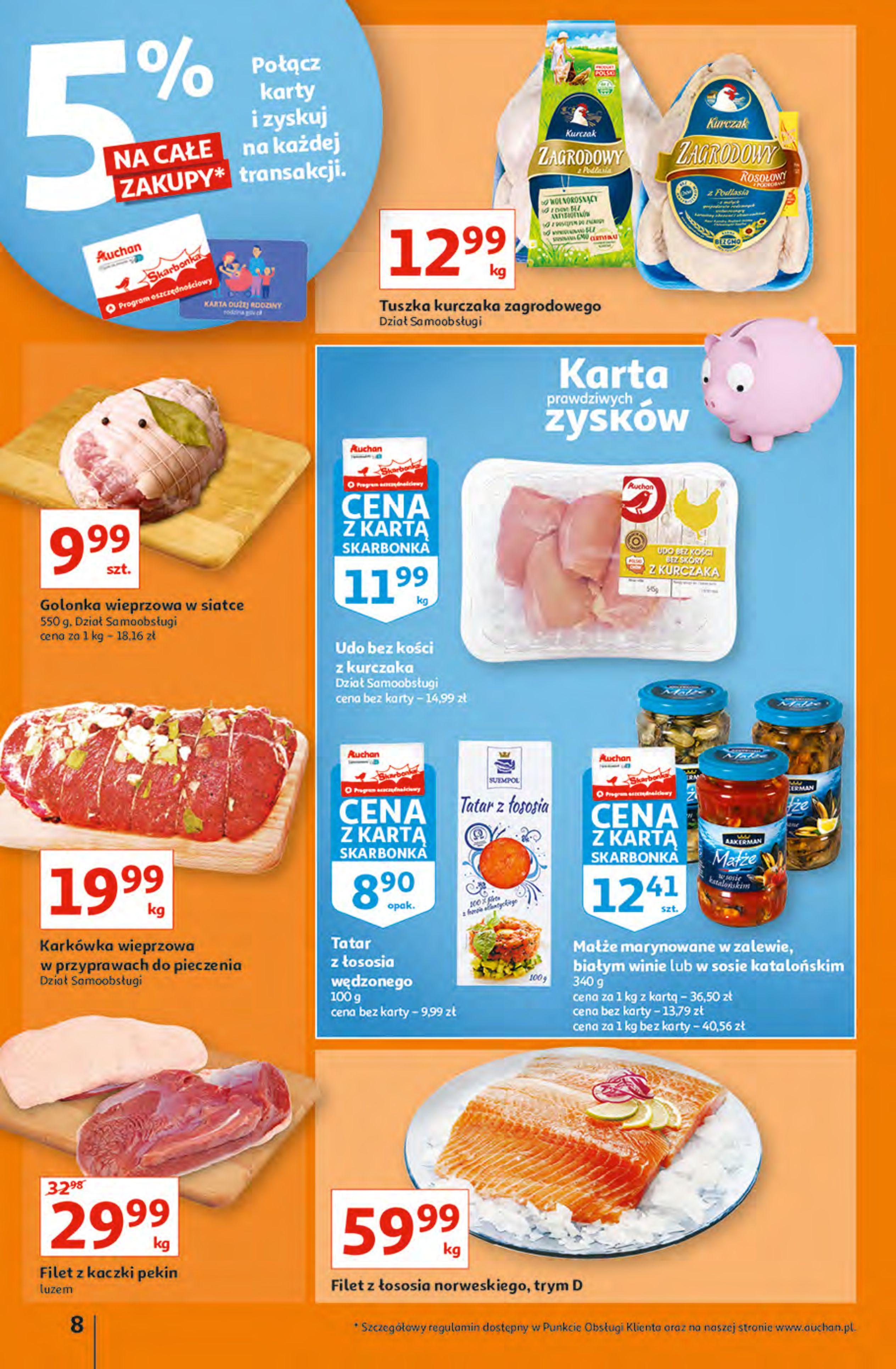 Gazetka Auchan: Gazetka Auchan - Hiperoszczędzanie z Kartą Skarbonka 2 Hipermarkety 2021-10-14 page-8