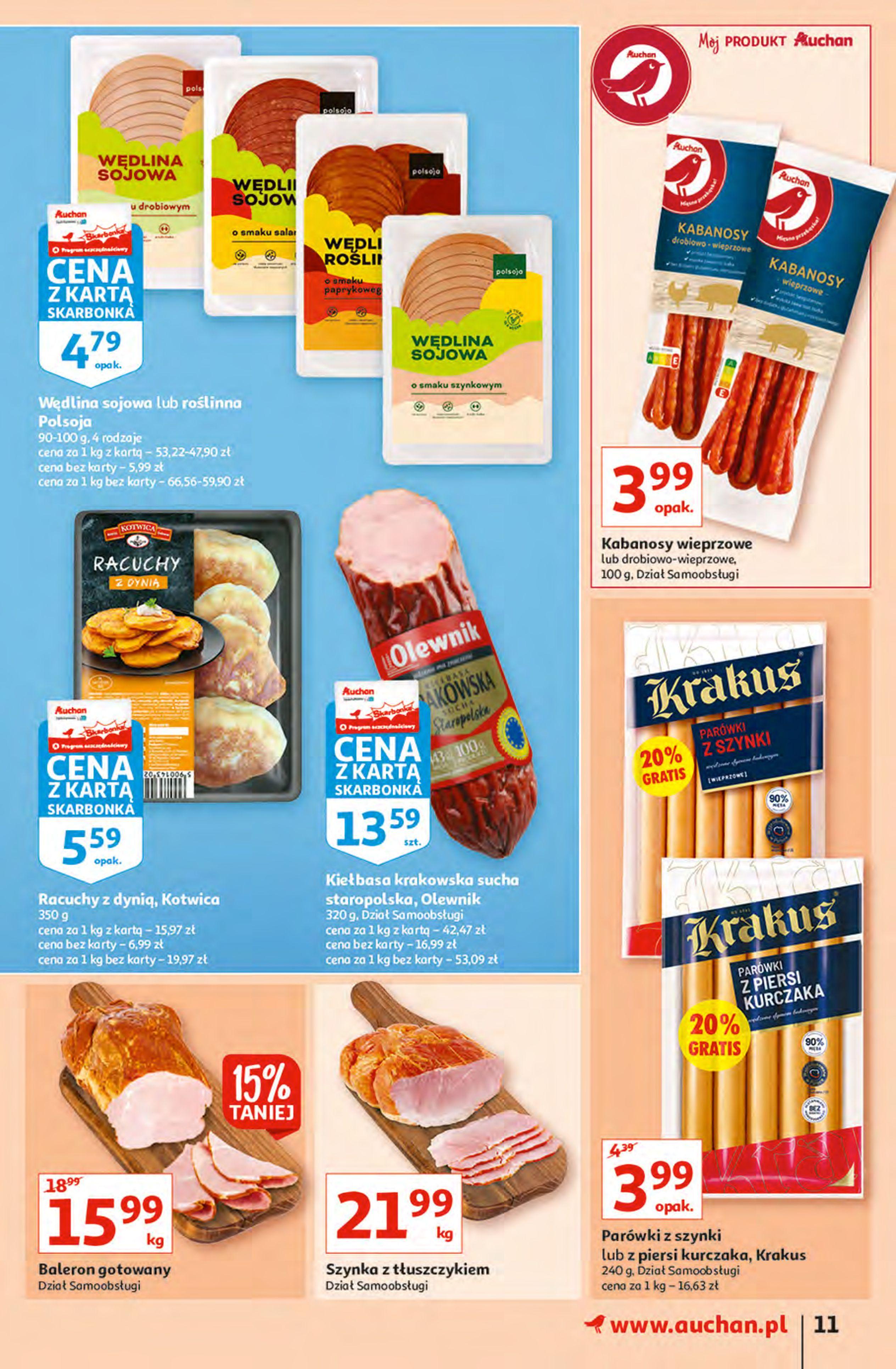 Gazetka Auchan: Gazetka Auchan - Hiperoszczędzanie z Kartą Skarbonka 2 Hipermarkety 2021-10-14 page-11