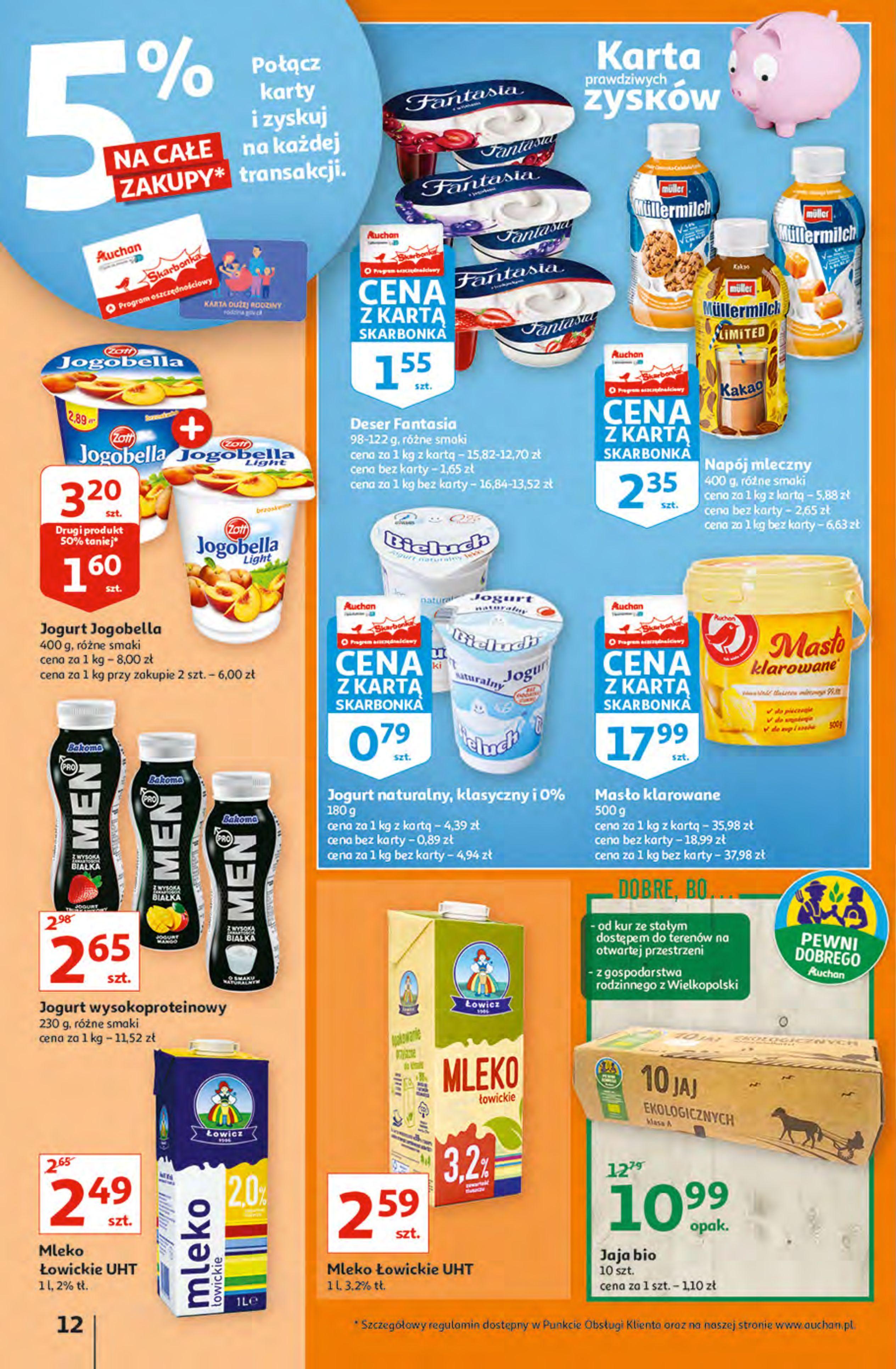 Gazetka Auchan: Gazetka Auchan - Hiperoszczędzanie z Kartą Skarbonka 2 Hipermarkety 2021-10-14 page-12