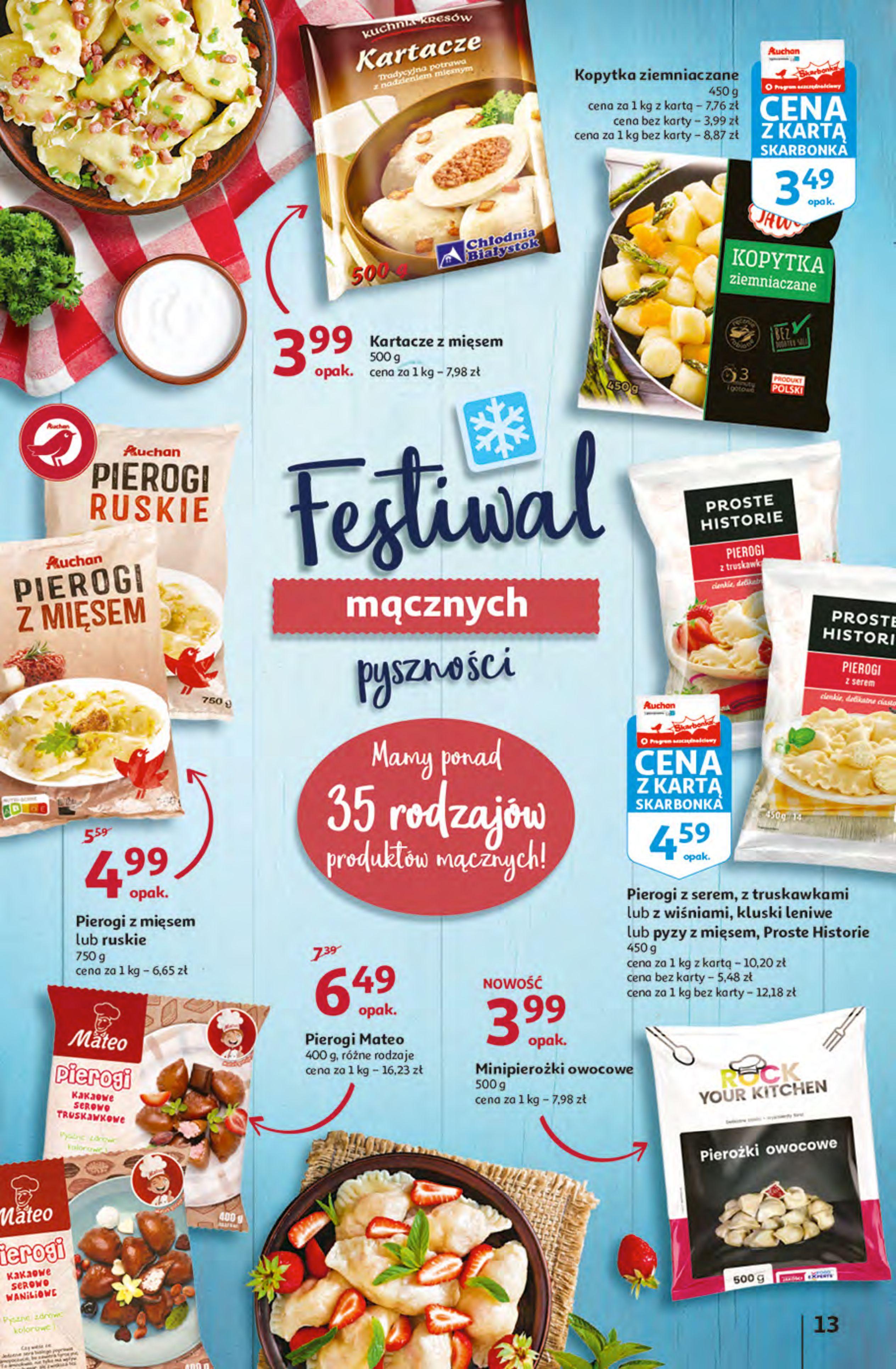 Gazetka Auchan: Gazetka Auchan - Hiperoszczędzanie z Kartą Skarbonka 2 Hipermarkety 2021-10-14 page-13