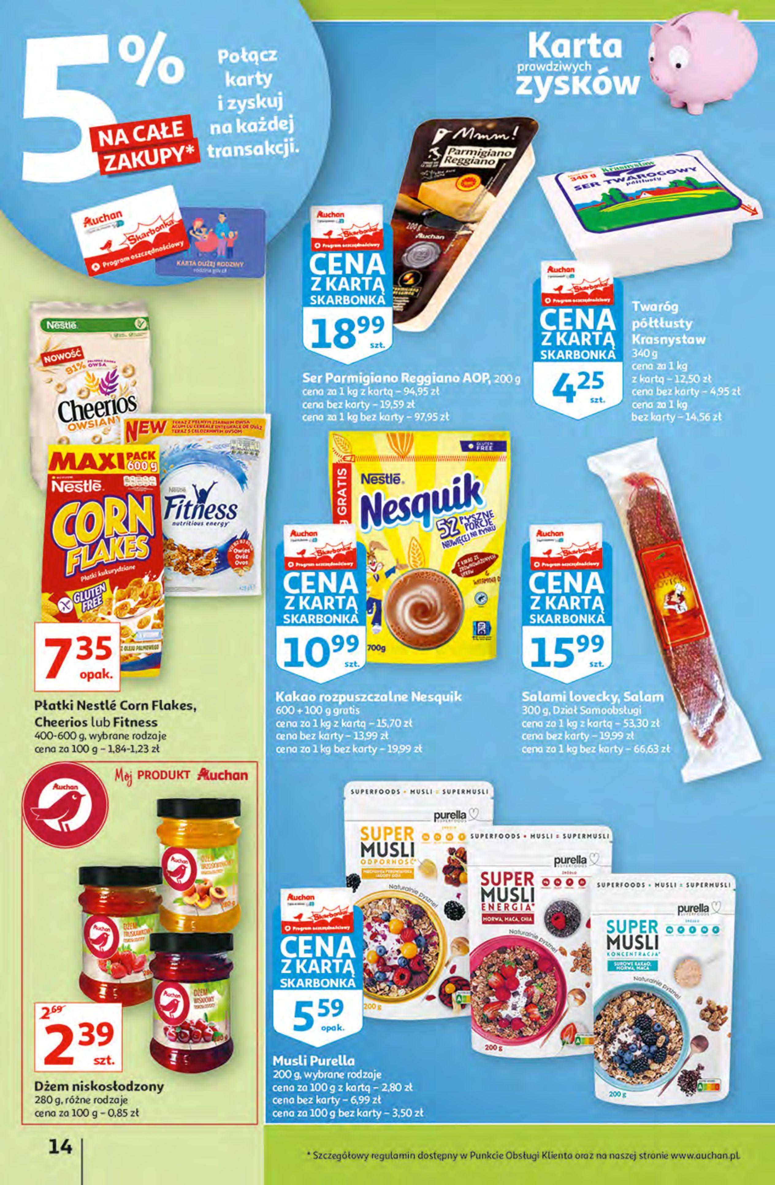 Gazetka Auchan: Gazetka Auchan - Hiperoszczędzanie z Kartą Skarbonka 2 Hipermarkety 2021-10-14 page-14
