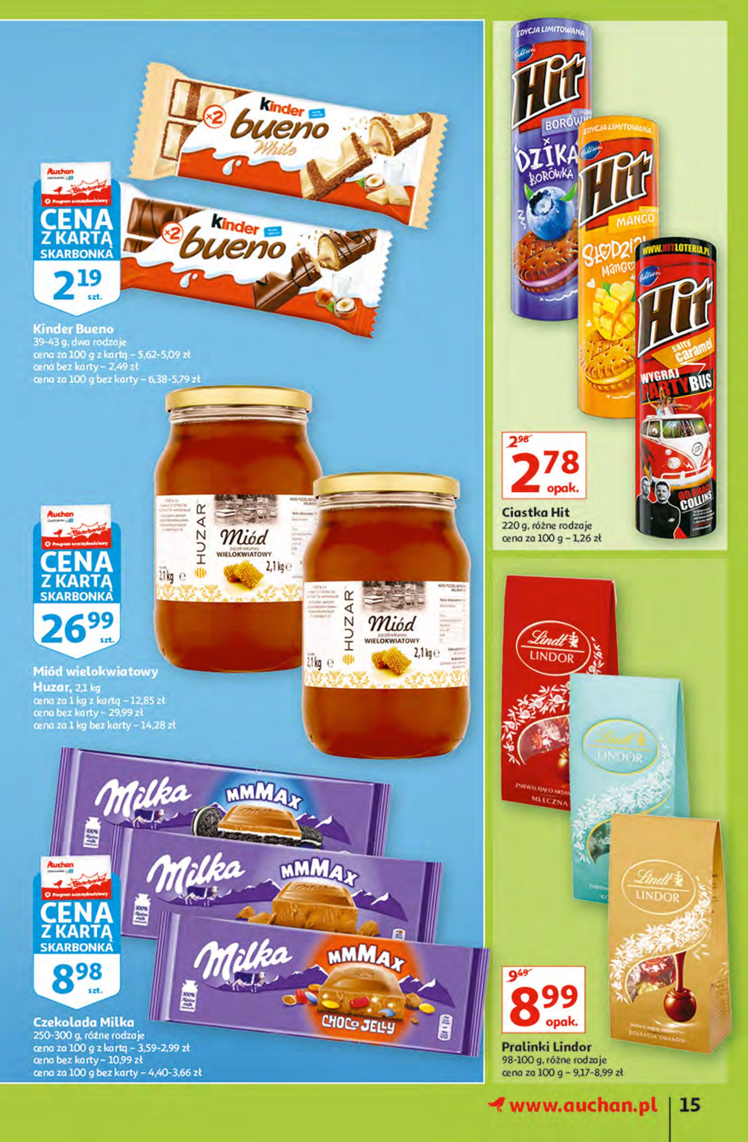Gazetka Auchan: Gazetka Auchan - Hiperoszczędzanie z Kartą Skarbonka 2 Hipermarkety 2021-10-14 page-15