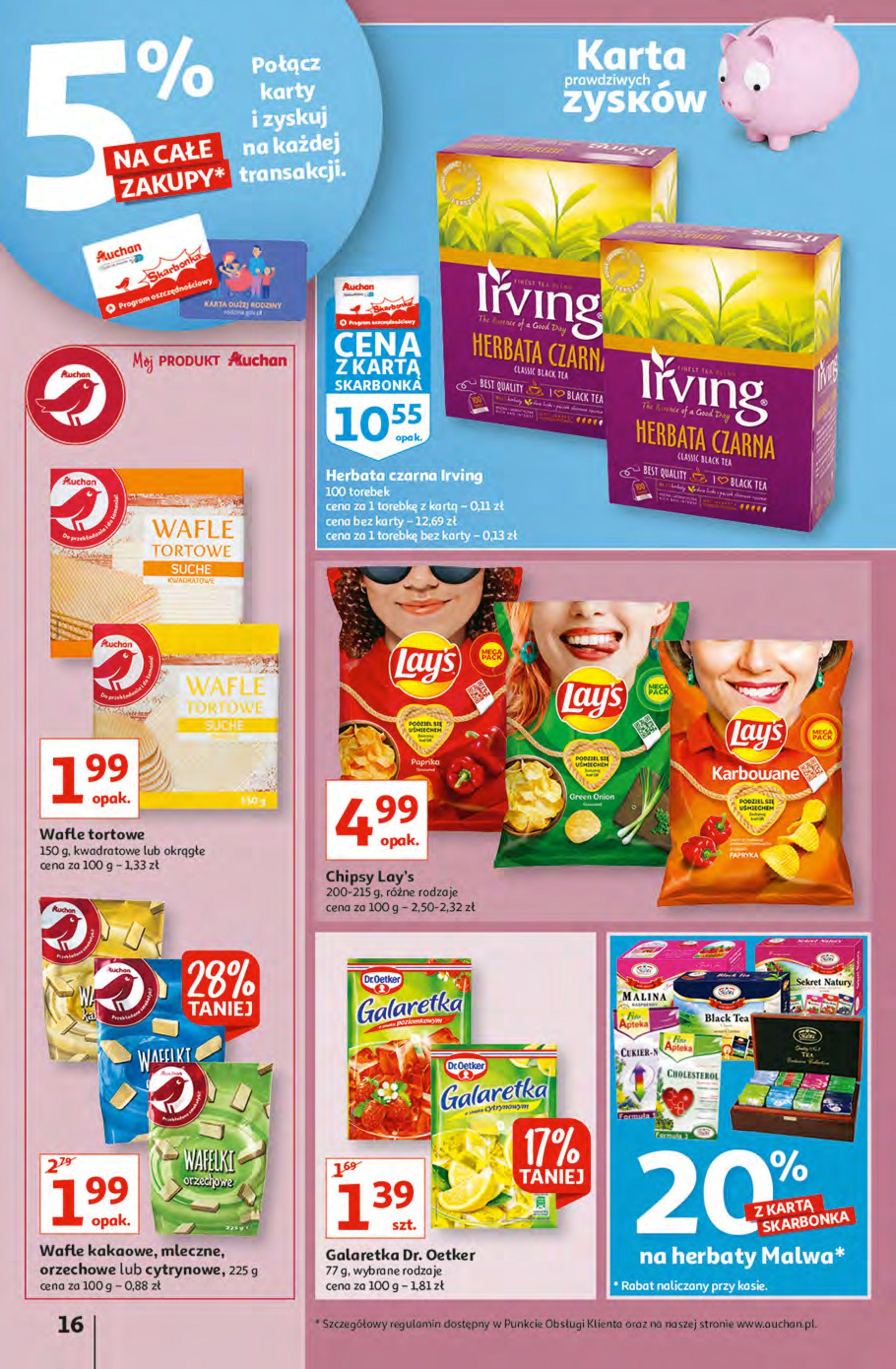 Gazetka Auchan: Gazetka Auchan - Hiperoszczędzanie z Kartą Skarbonka 2 Hipermarkety 2021-10-14 page-16