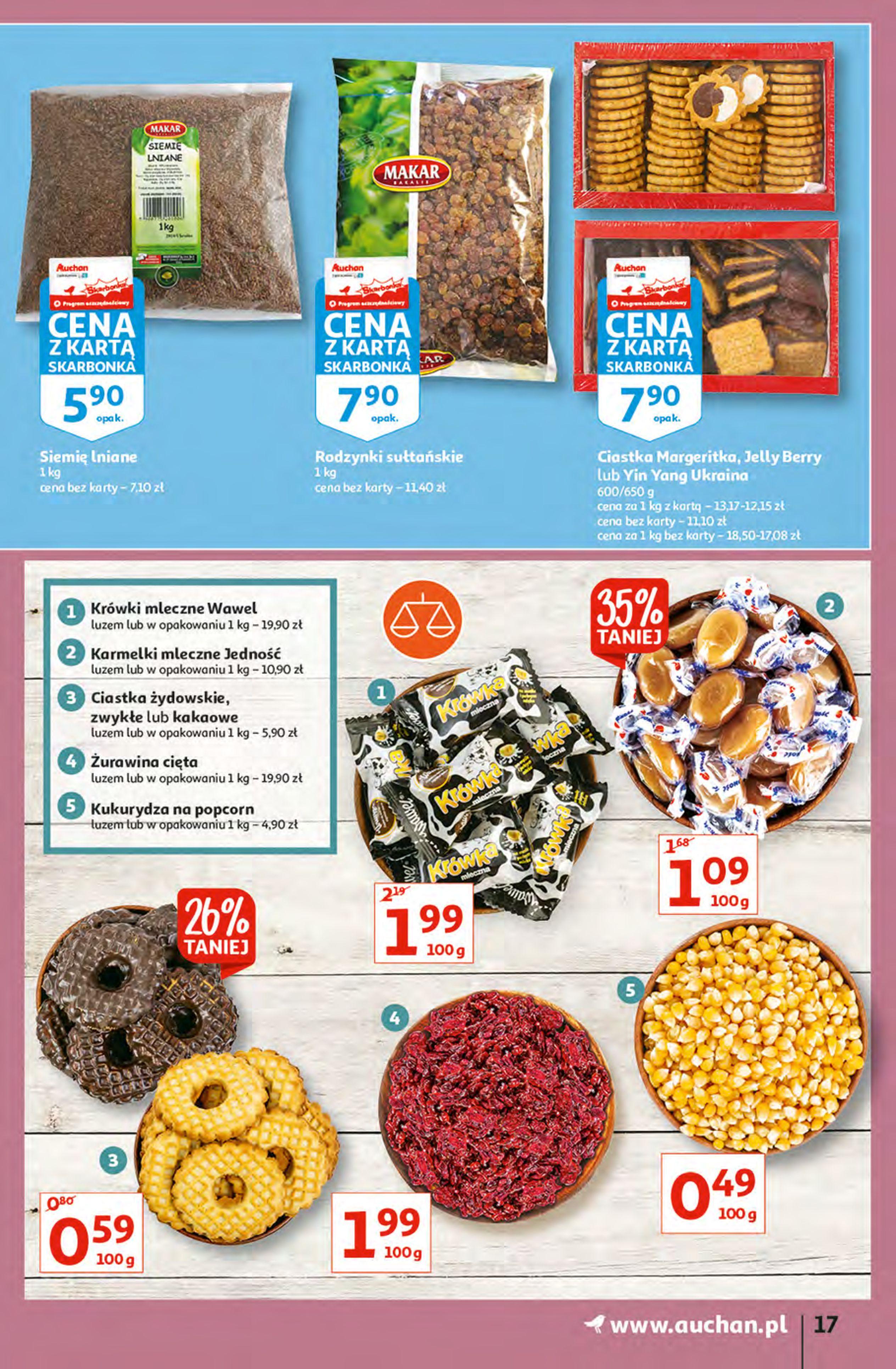 Gazetka Auchan: Gazetka Auchan - Hiperoszczędzanie z Kartą Skarbonka 2 Hipermarkety 2021-10-14 page-17