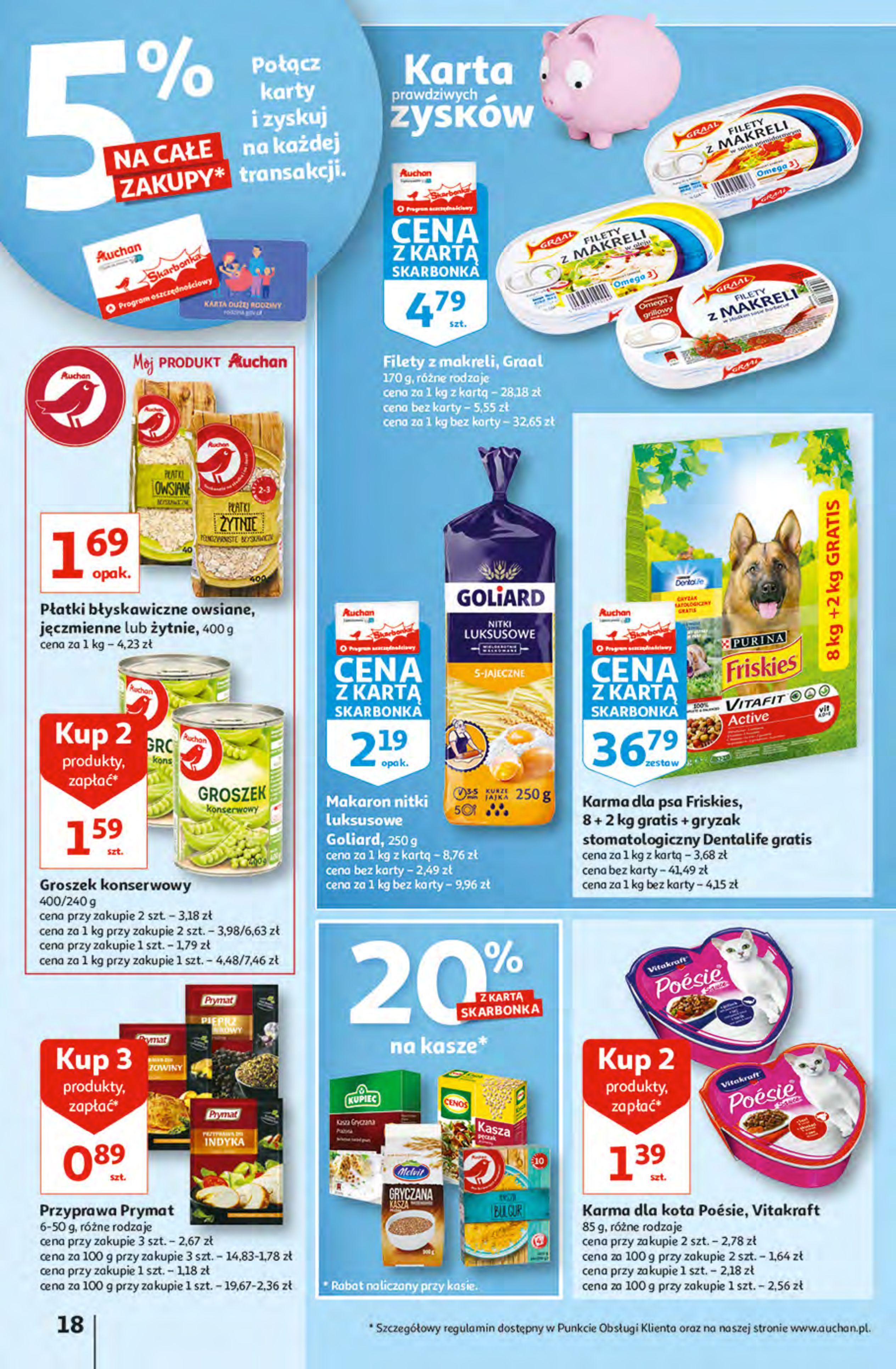 Gazetka Auchan: Gazetka Auchan - Hiperoszczędzanie z Kartą Skarbonka 2 Hipermarkety 2021-10-14 page-18