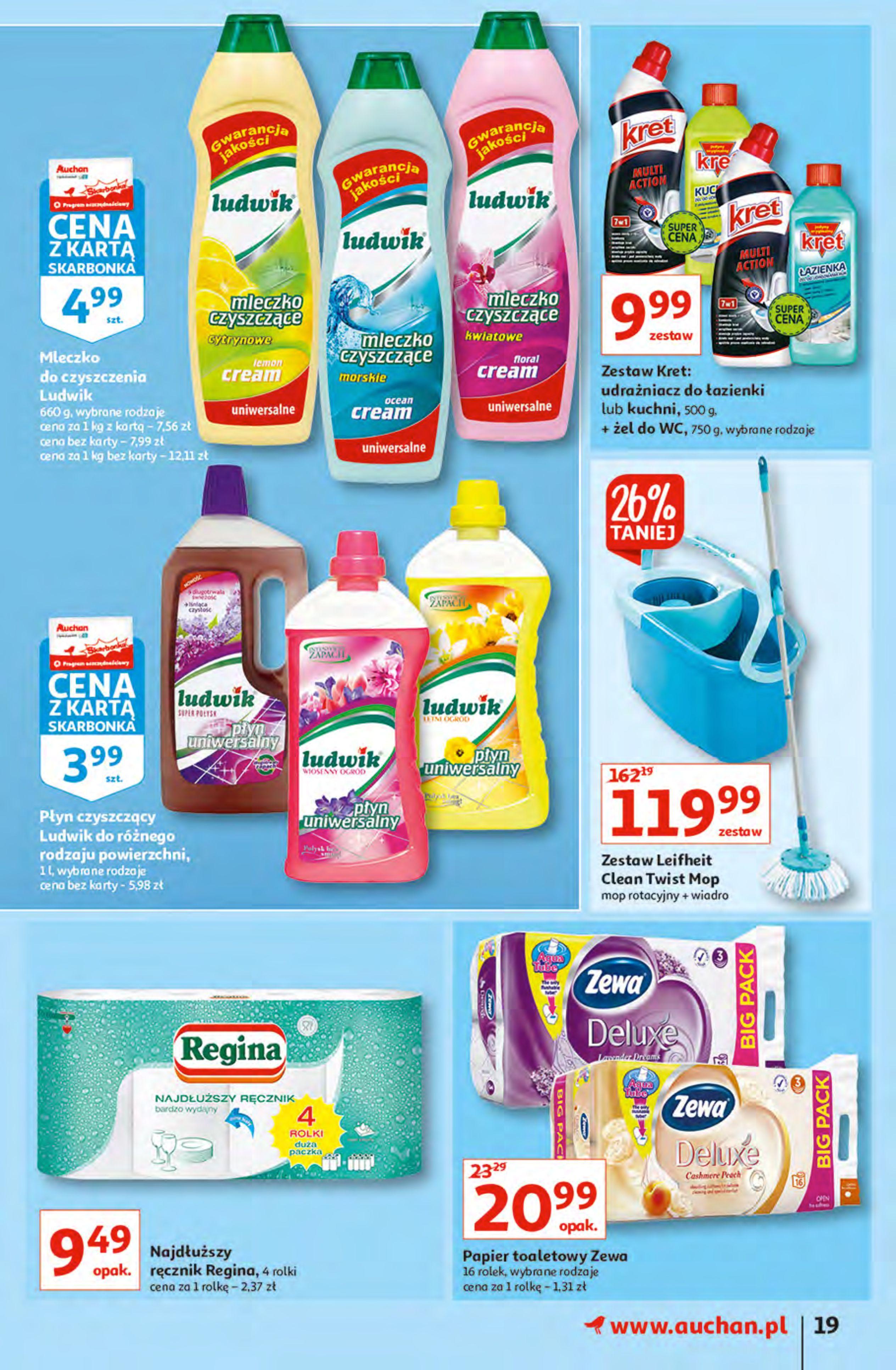 Gazetka Auchan: Gazetka Auchan - Hiperoszczędzanie z Kartą Skarbonka 2 Hipermarkety 2021-10-14 page-19