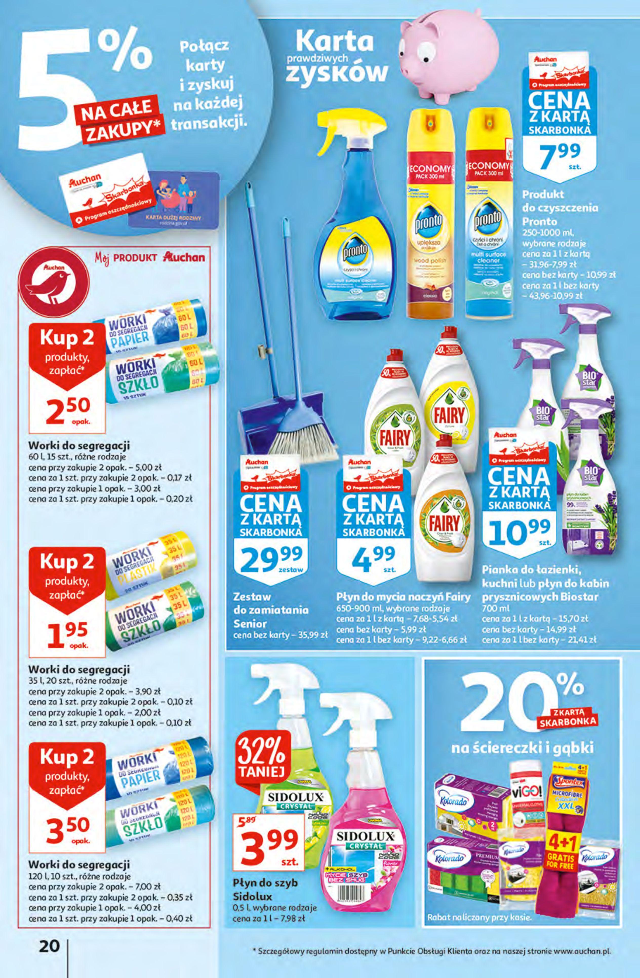 Gazetka Auchan: Gazetka Auchan - Hiperoszczędzanie z Kartą Skarbonka 2 Hipermarkety 2021-10-14 page-20
