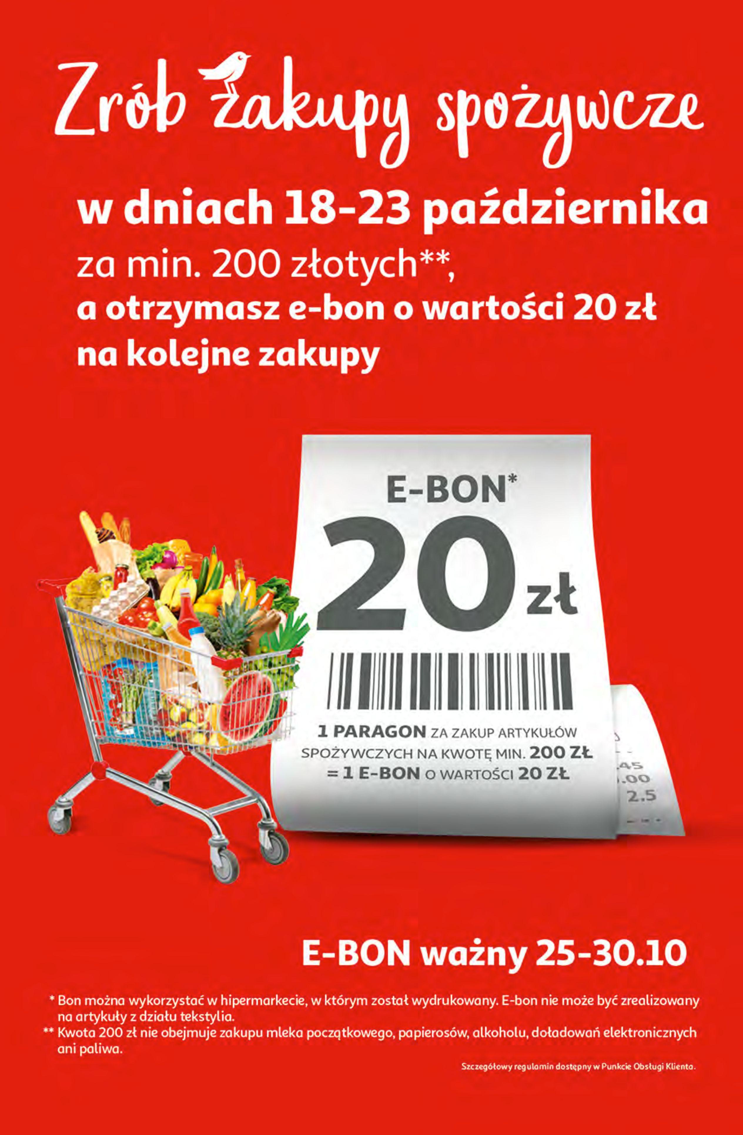 Gazetka Auchan: Gazetka Auchan - Hiperoszczędzanie z Kartą Skarbonka 2 Hipermarkety 2021-10-14 page-3