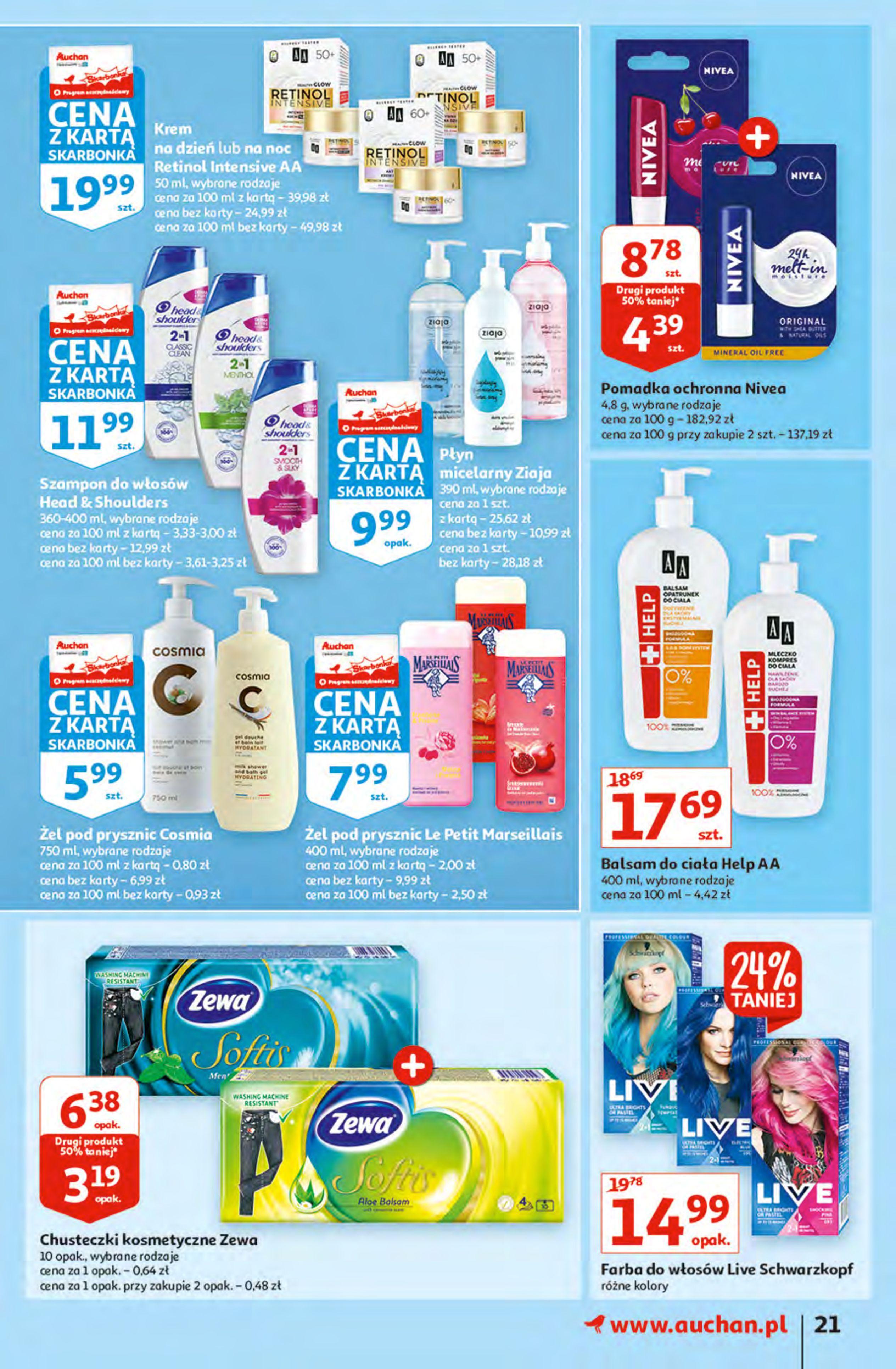 Gazetka Auchan: Gazetka Auchan - Hiperoszczędzanie z Kartą Skarbonka 2 Hipermarkety 2021-10-14 page-21