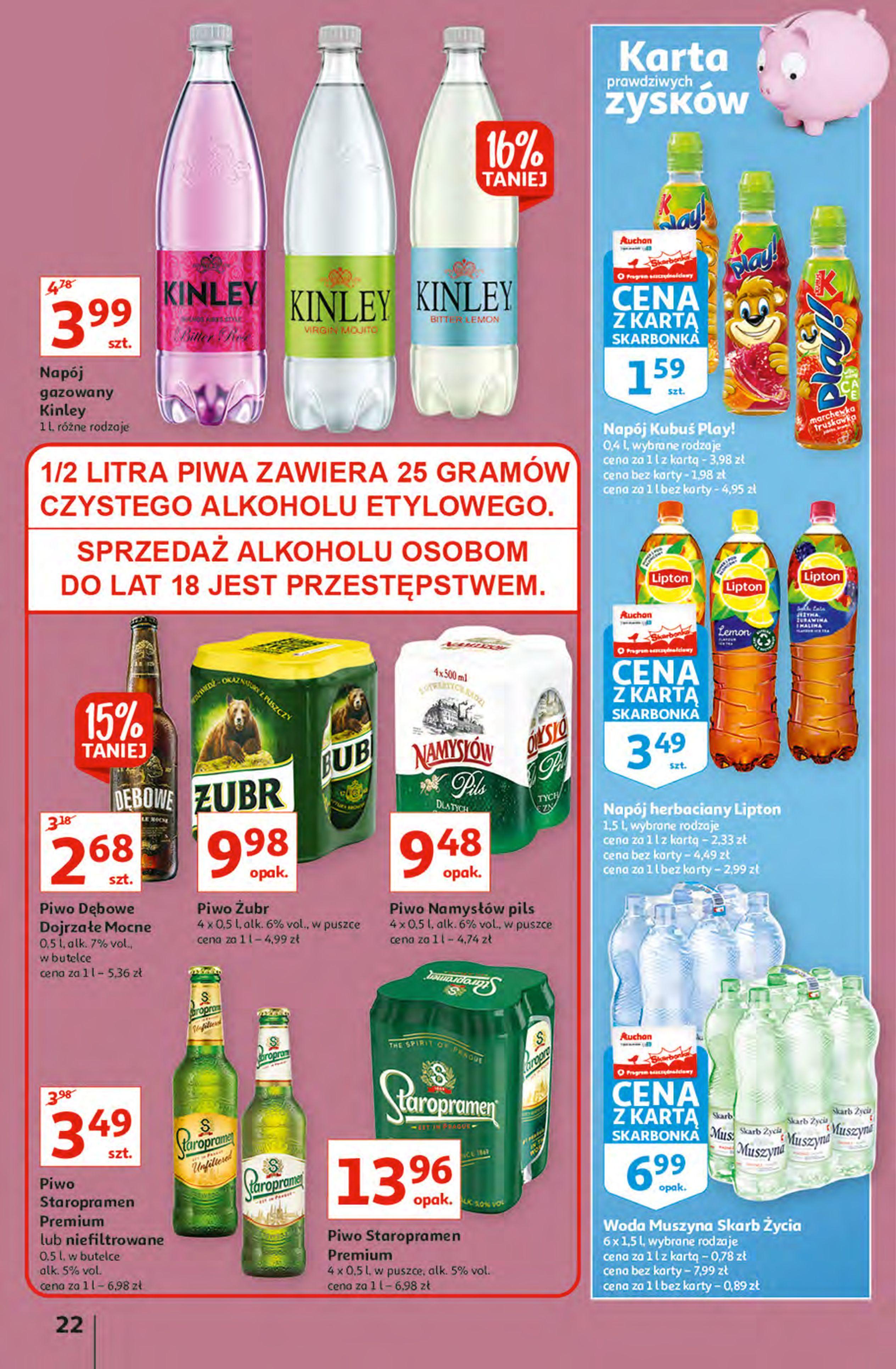 Gazetka Auchan: Gazetka Auchan - Hiperoszczędzanie z Kartą Skarbonka 2 Hipermarkety 2021-10-14 page-22
