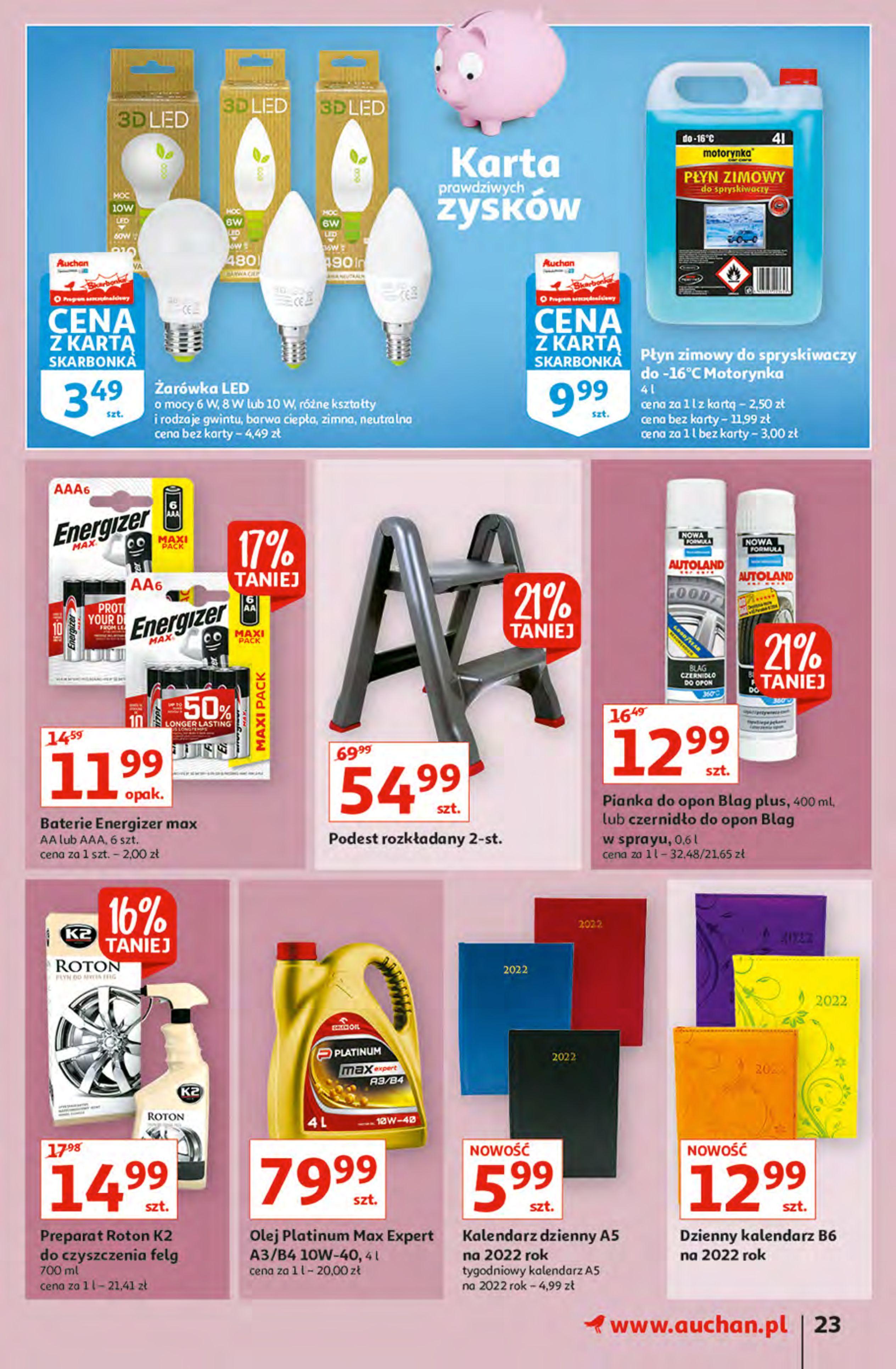 Gazetka Auchan: Gazetka Auchan - Hiperoszczędzanie z Kartą Skarbonka 2 Hipermarkety 2021-10-14 page-23