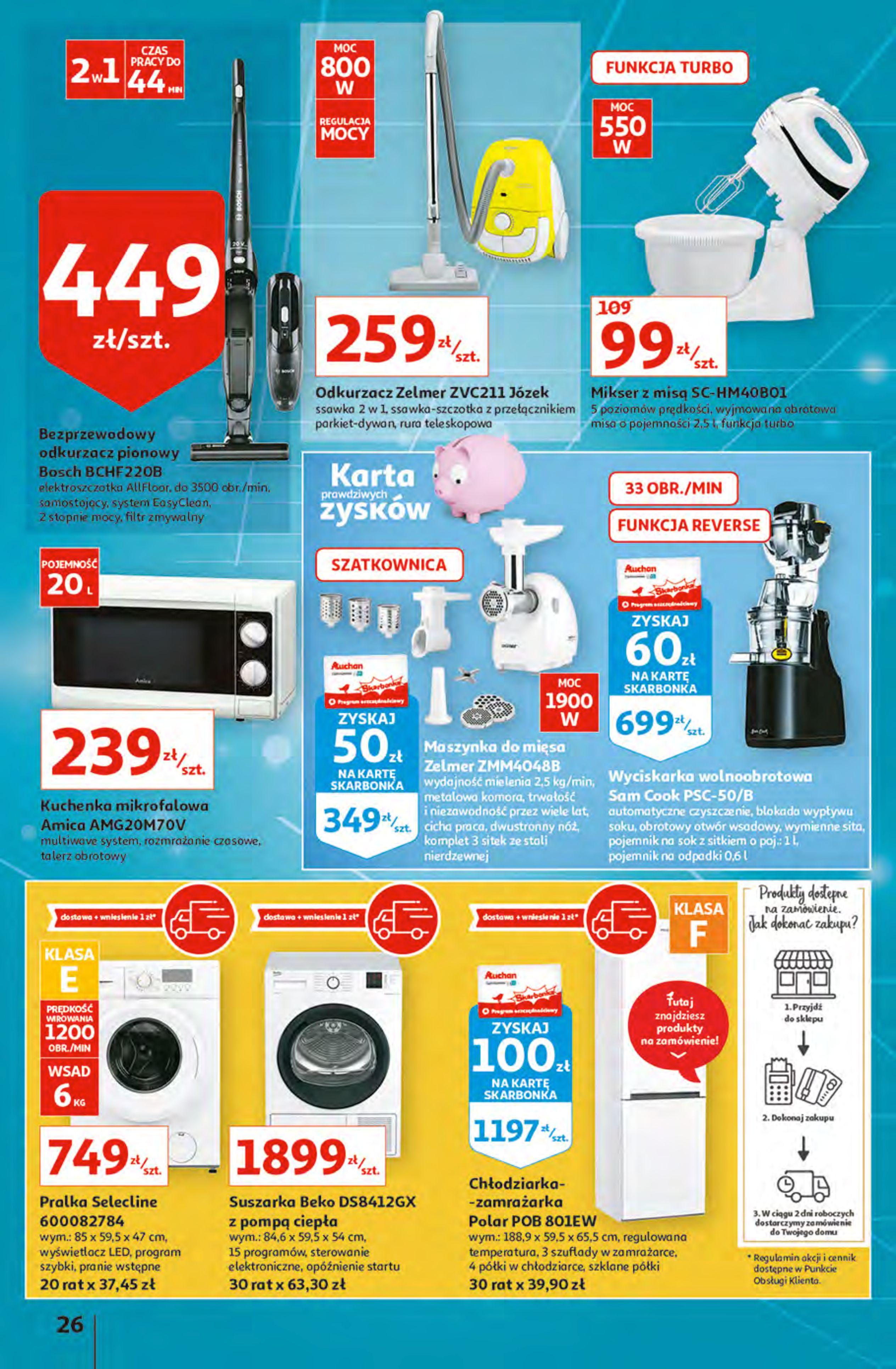 Gazetka Auchan: Gazetka Auchan - Hiperoszczędzanie z Kartą Skarbonka 2 Hipermarkety 2021-10-14 page-26