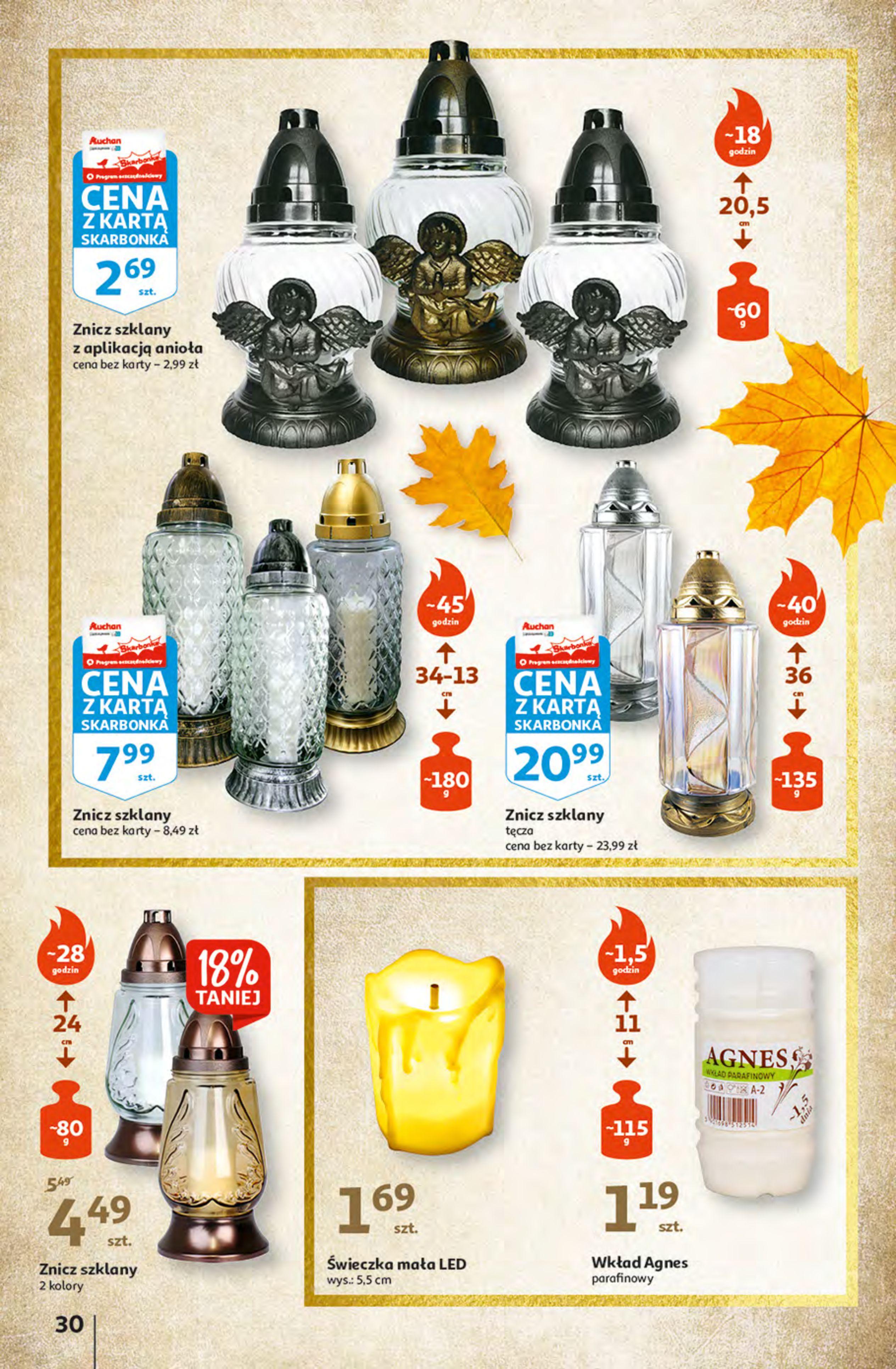 Gazetka Auchan: Gazetka Auchan - Hiperoszczędzanie z Kartą Skarbonka 2 Hipermarkety 2021-10-14 page-30