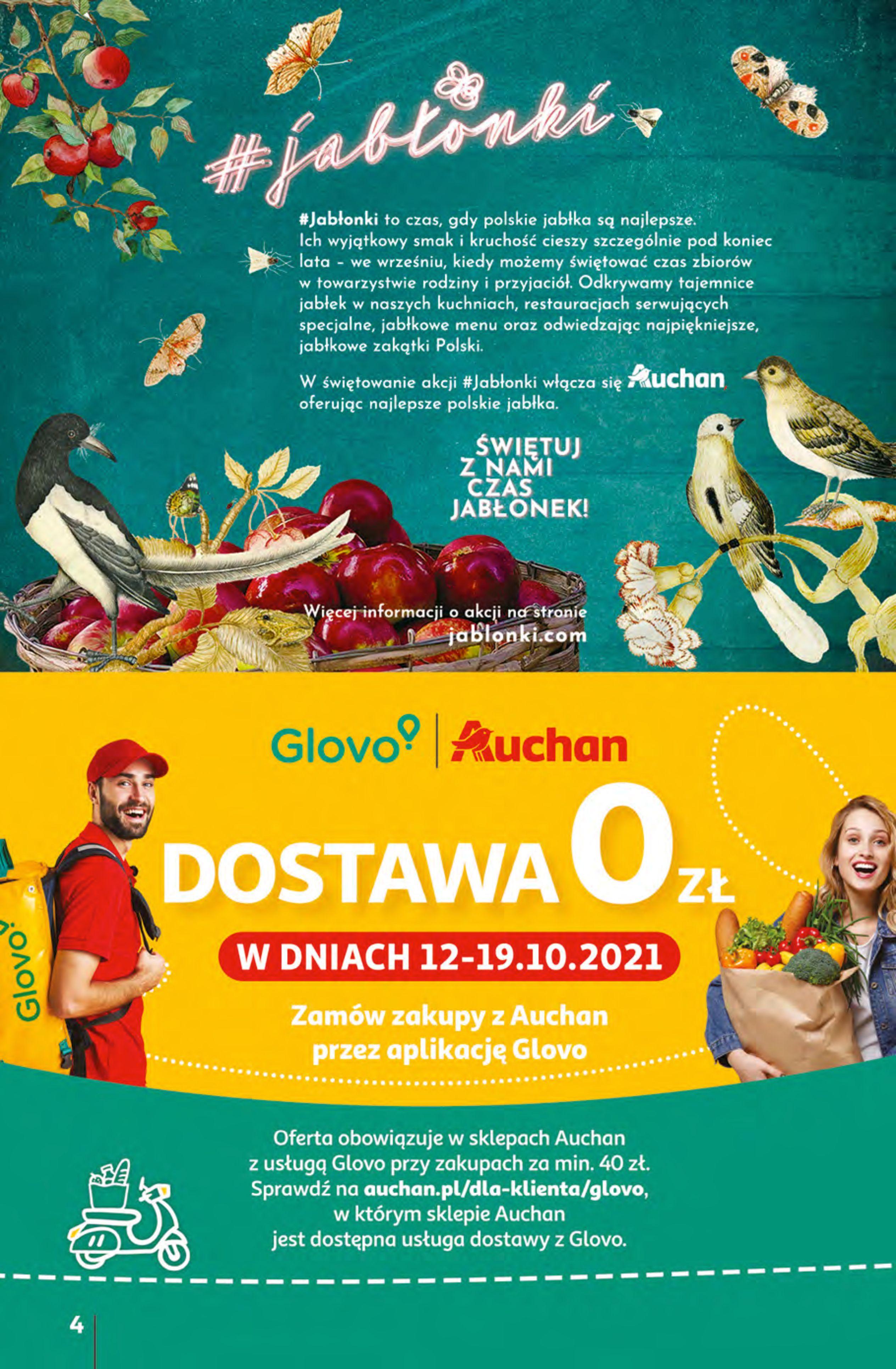 Gazetka Auchan: Gazetka Auchan - Hiperoszczędzanie z Kartą Skarbonka 2 Hipermarkety 2021-10-14 page-4