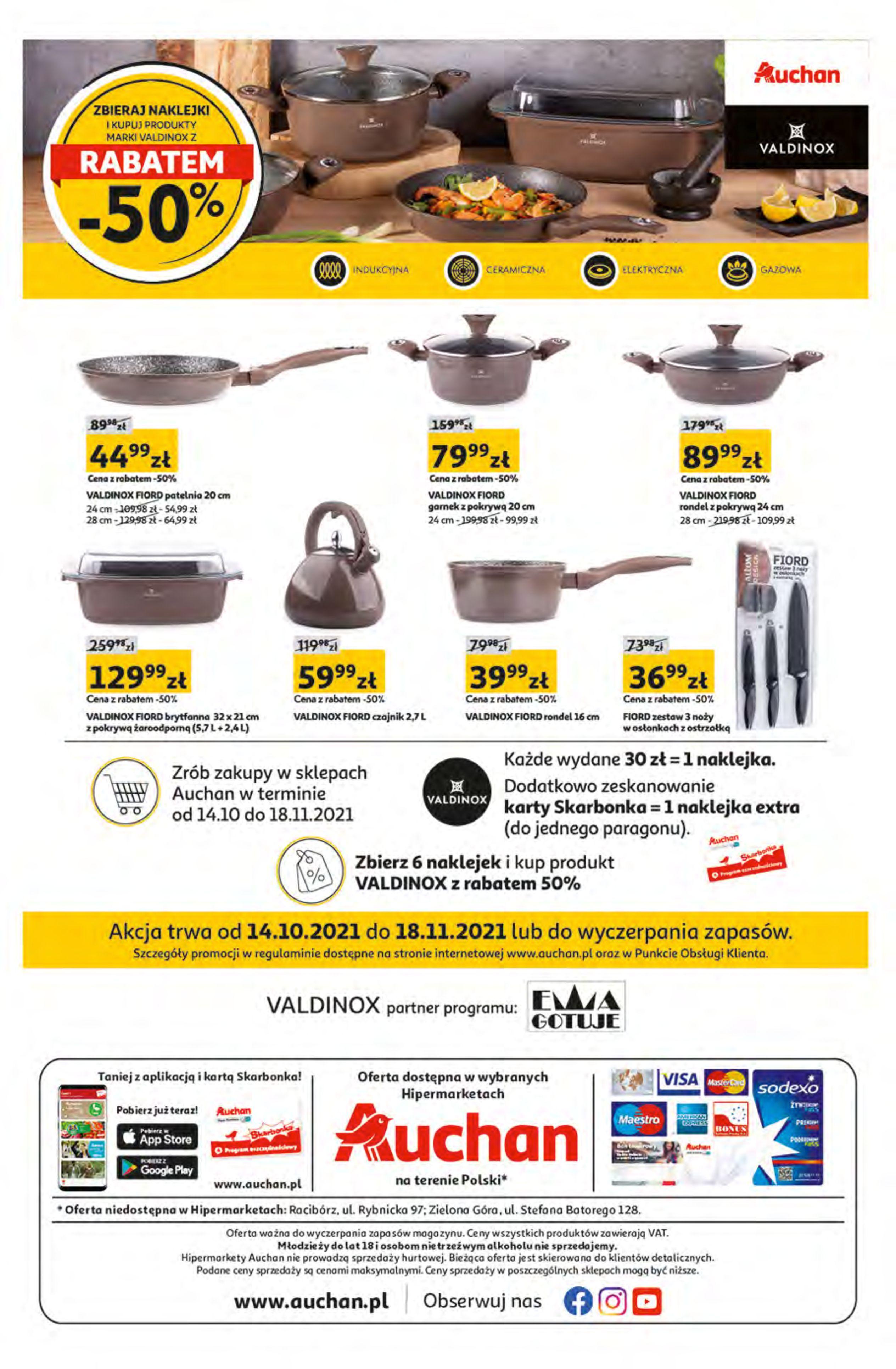 Gazetka Auchan: Gazetka Auchan - Hiperoszczędzanie z Kartą Skarbonka 2 Hipermarkety 2021-10-14 page-32