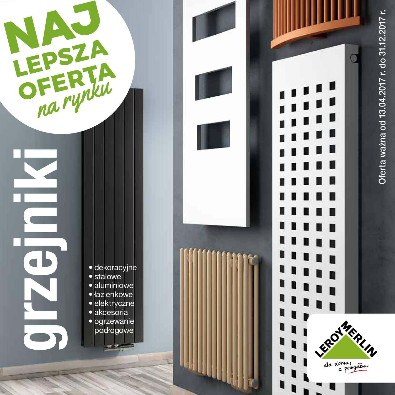 Gazetka Leroy Merlin - Katalog grzejniki-12.04.2017-31.12.2017-page-1