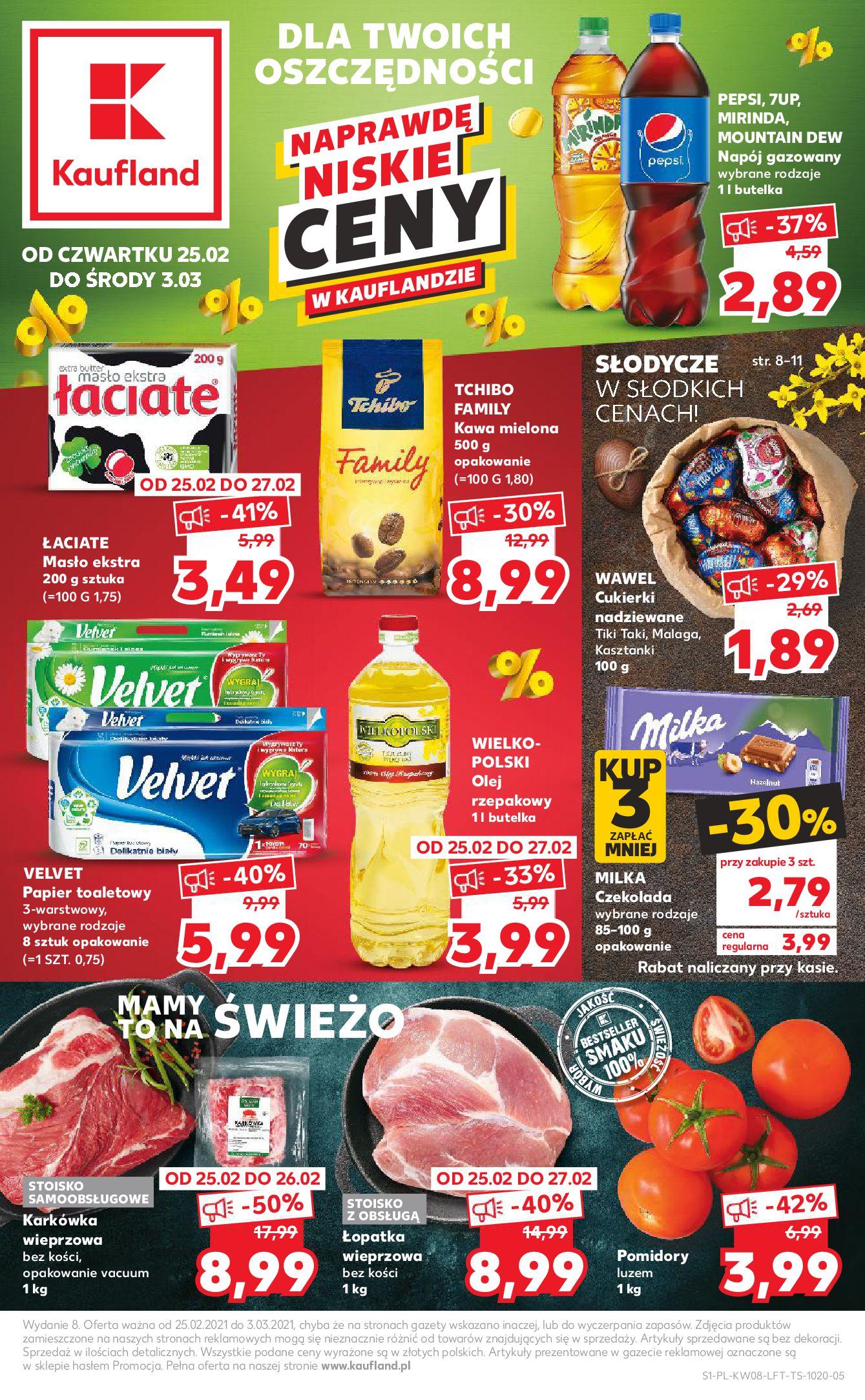 Gazetka Kaufland: Gazetka promocyjna od 25.02 2021-02-25 page-1