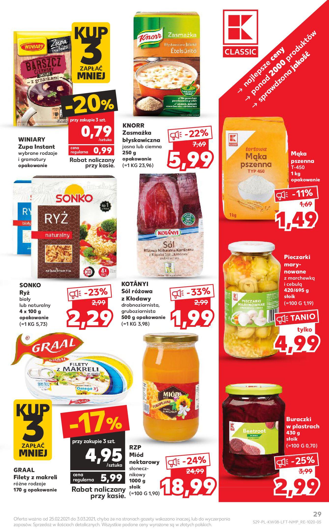 Gazetka Kaufland: Gazetka promocyjna od 25.02 2021-02-25 page-29
