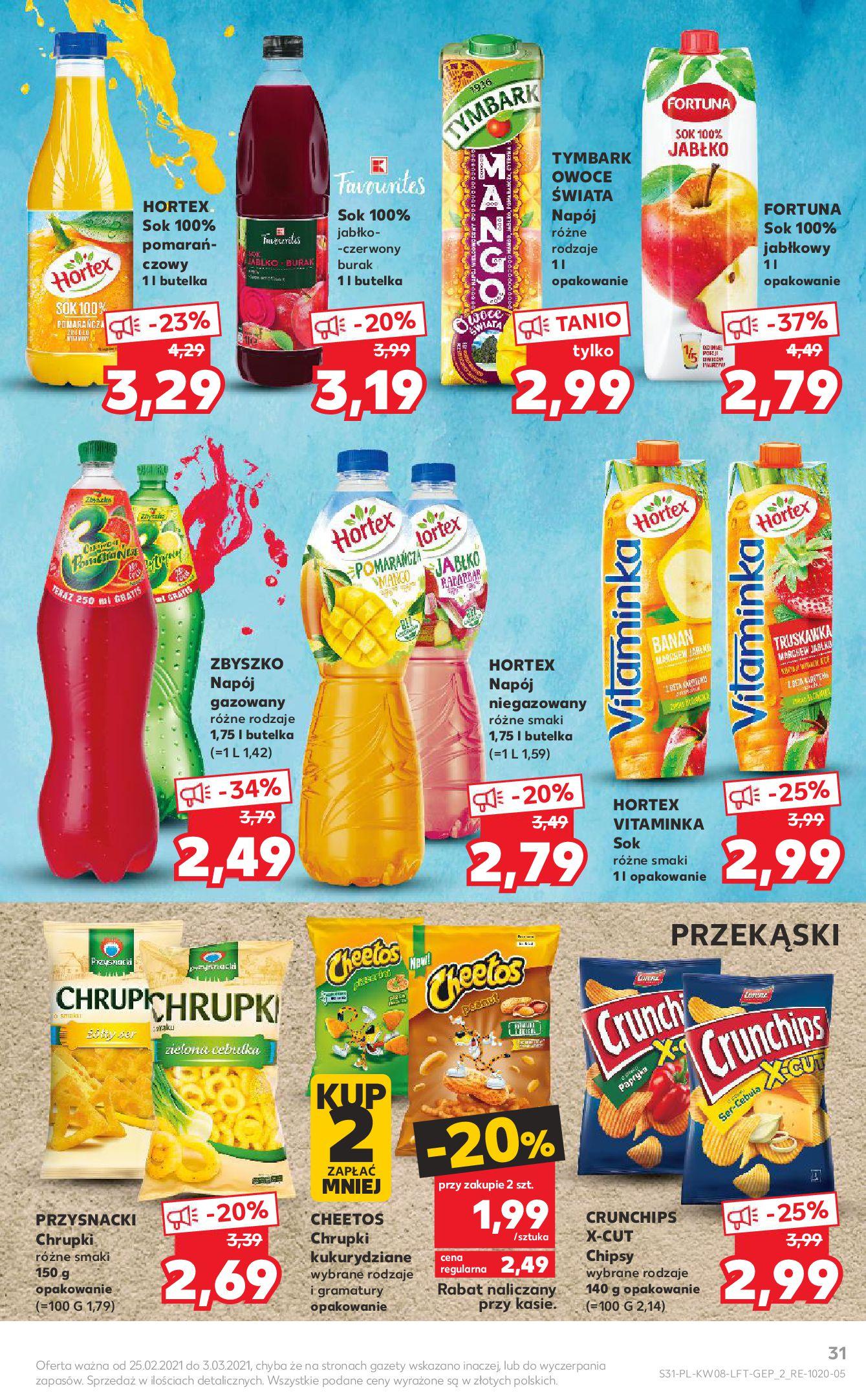Gazetka Kaufland: Gazetka promocyjna od 25.02 2021-02-25 page-31