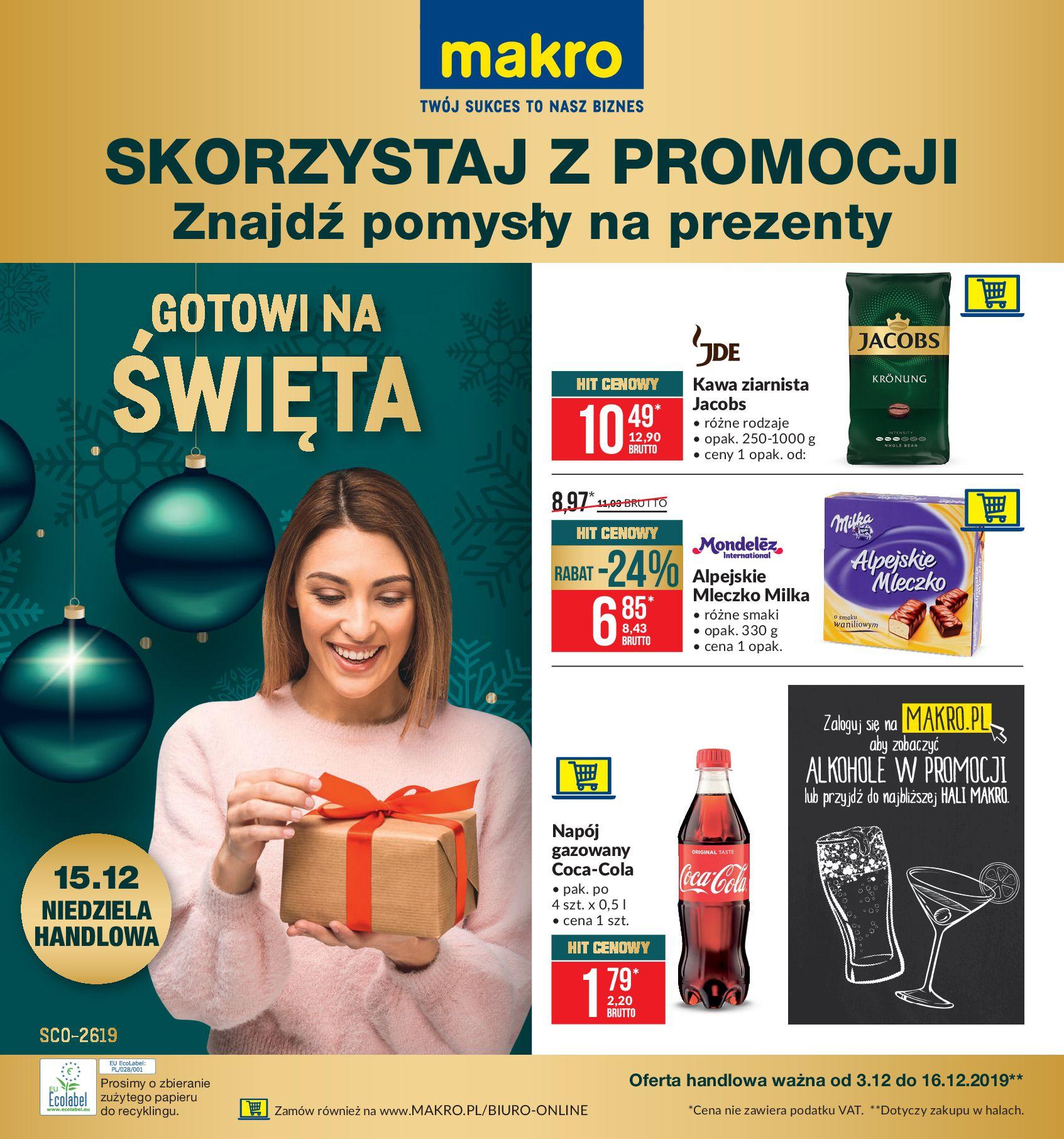 Gazetka Makro - Artykuły spożywcze-02.12.2019-16.12.2019-page-1