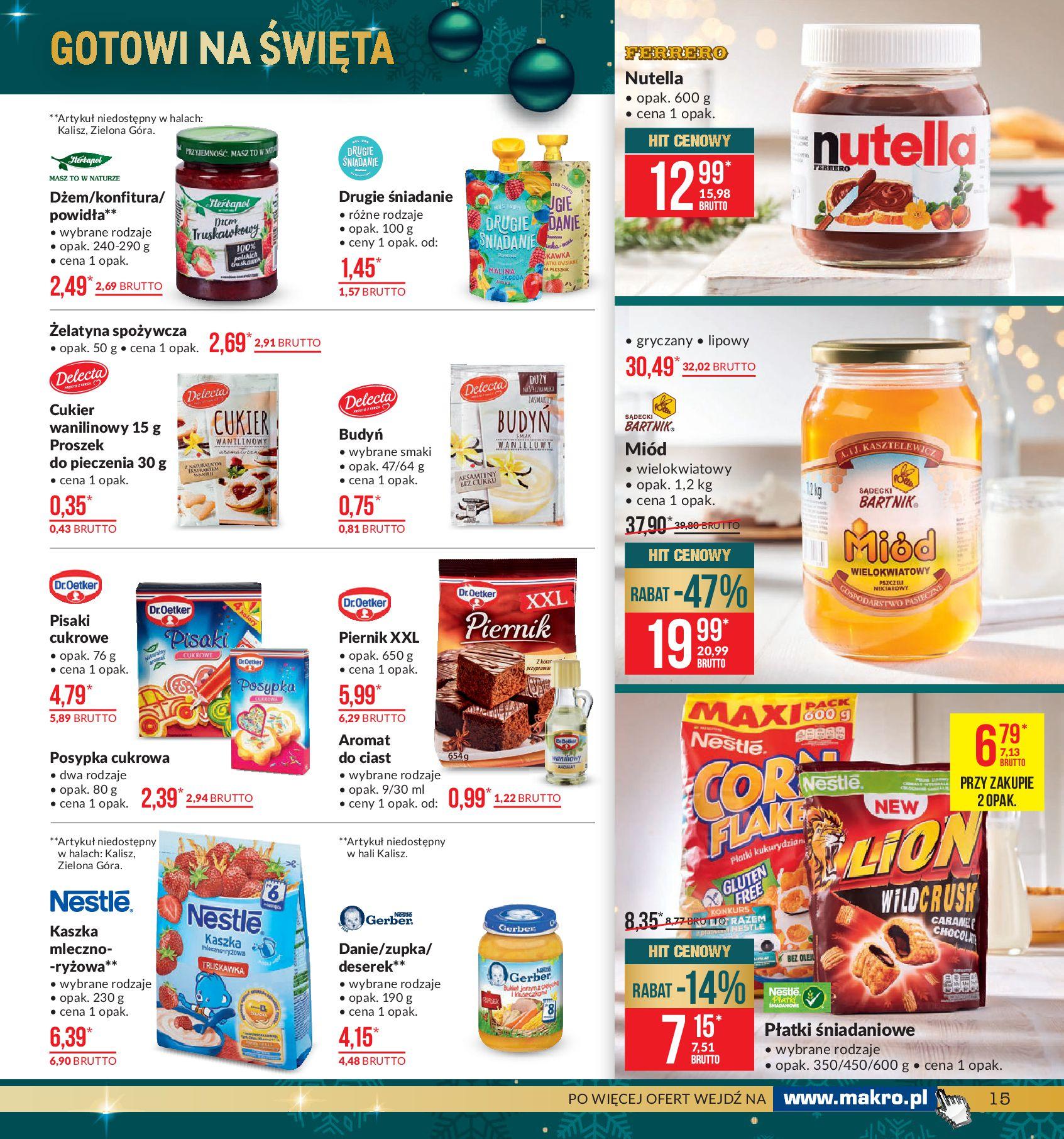 Gazetka Makro - Artykuły spożywcze-02.12.2019-16.12.2019-page-15