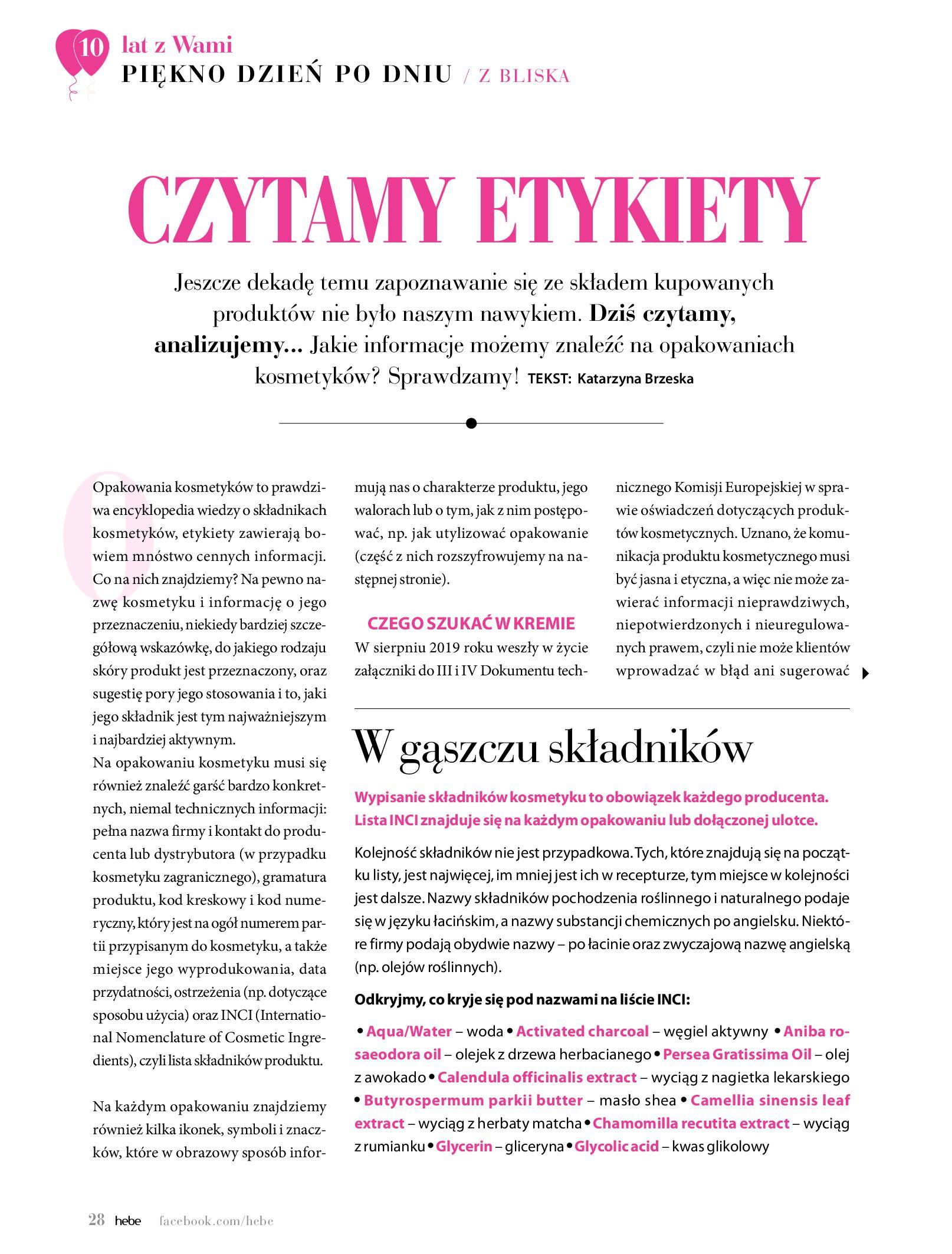 Gazetka hebe: Gazetka Hebe - Magazyn  2021-05-01 page-28