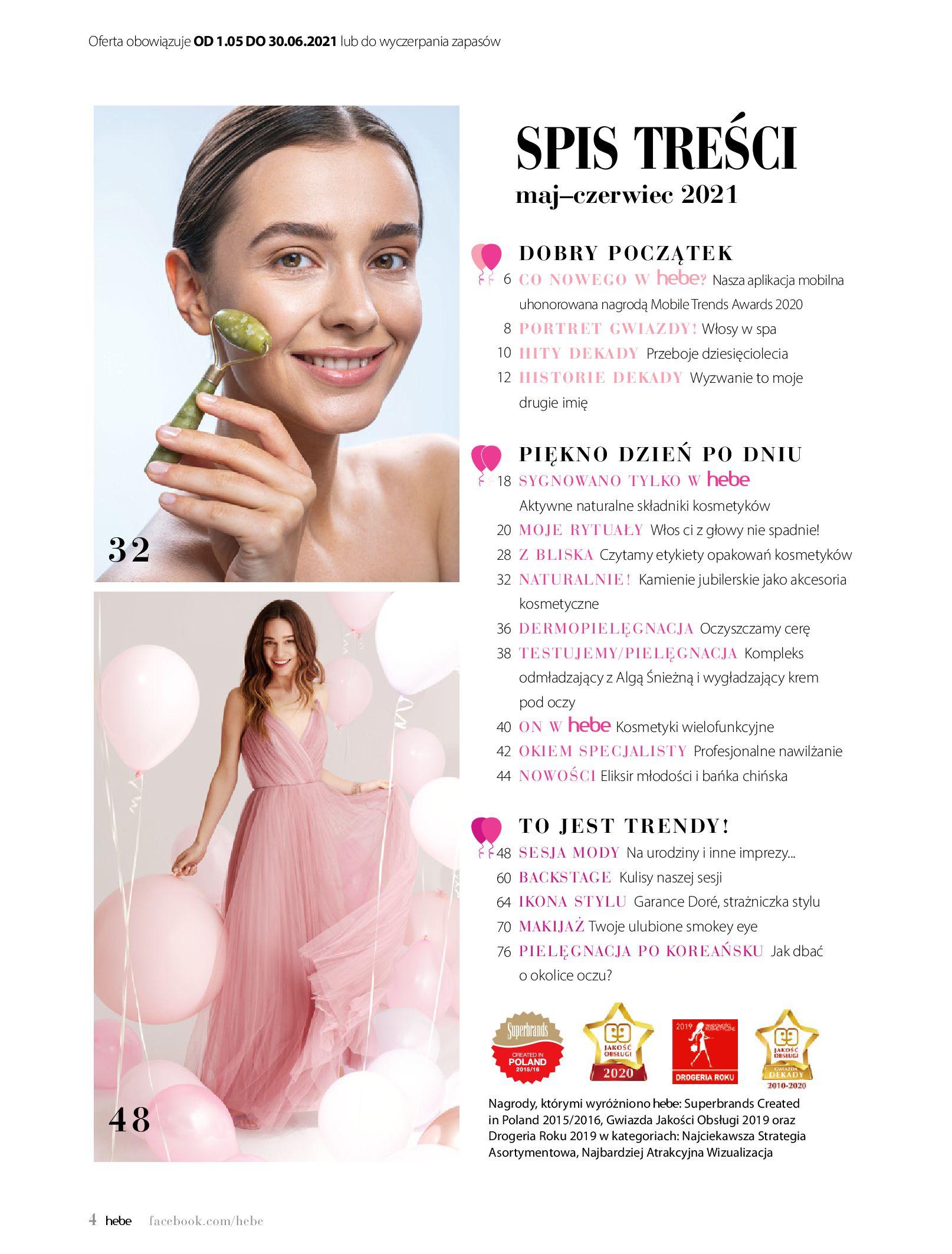 Gazetka hebe: Gazetka Hebe - Magazyn  2021-05-01 page-4