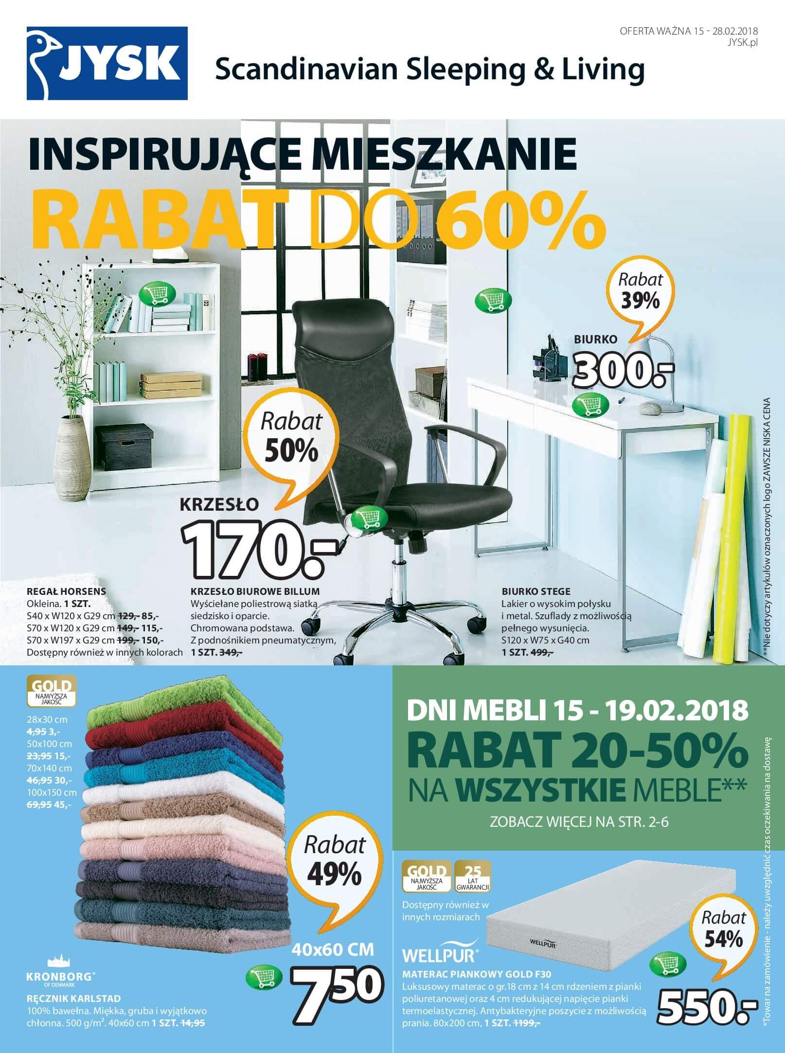 Gazetka Jysk - Inspirujące mieszkanie-14.02.2018-28.02.2018-page-1