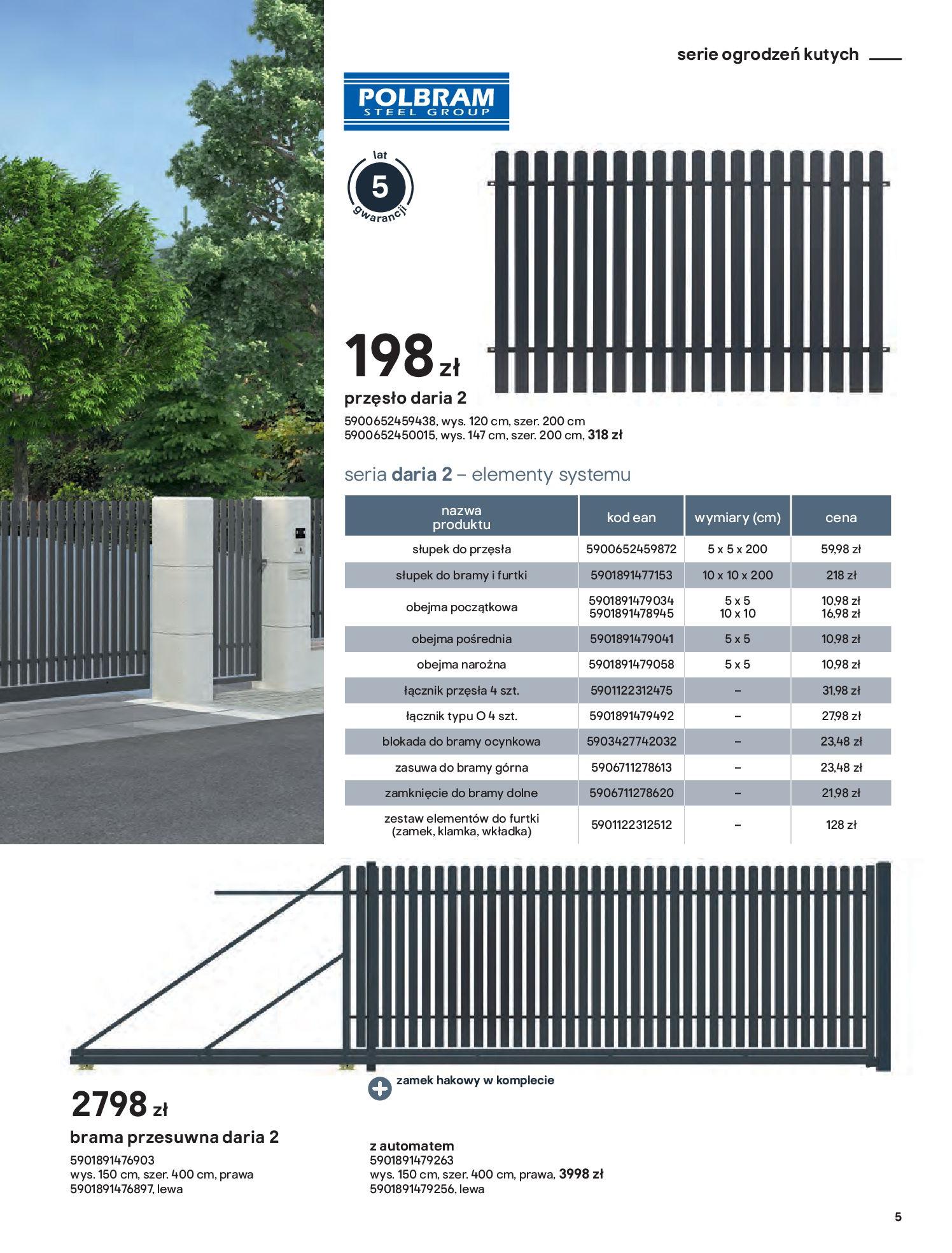 Gazetka Castorama: Przewodnik bramy i ogrodzenia 2021-02-08 page-5