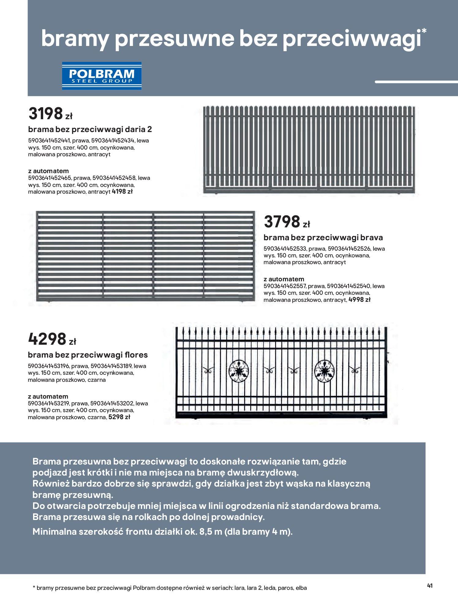 Gazetka Castorama: Przewodnik bramy i ogrodzenia 2021-02-08 page-41