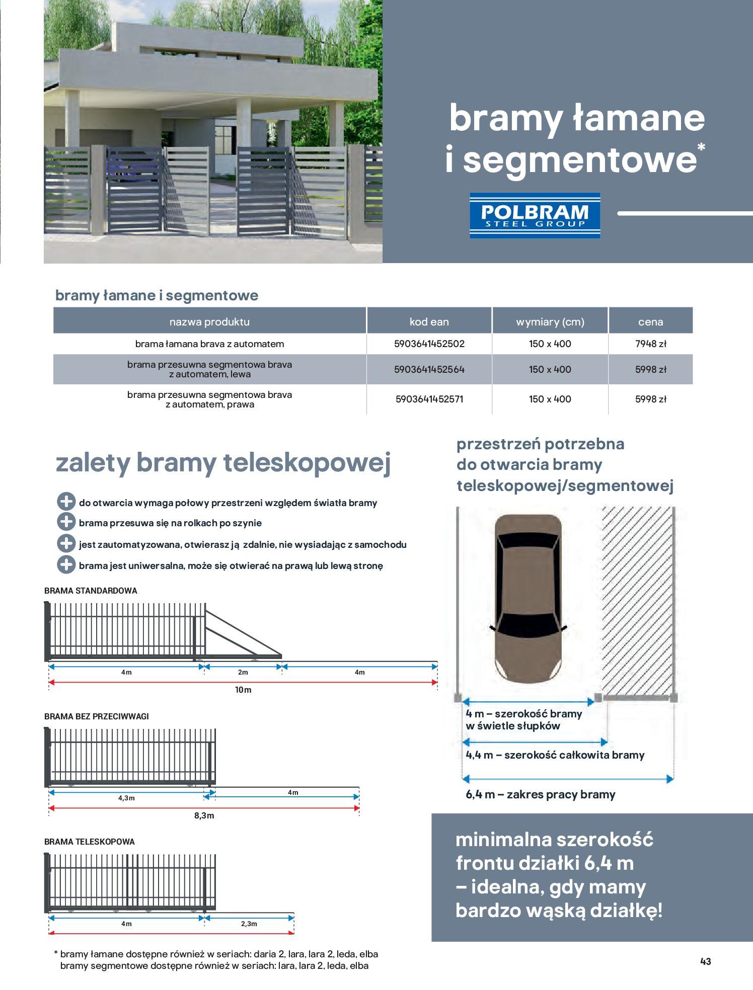 Gazetka Castorama: Przewodnik bramy i ogrodzenia 2021-02-08 page-43