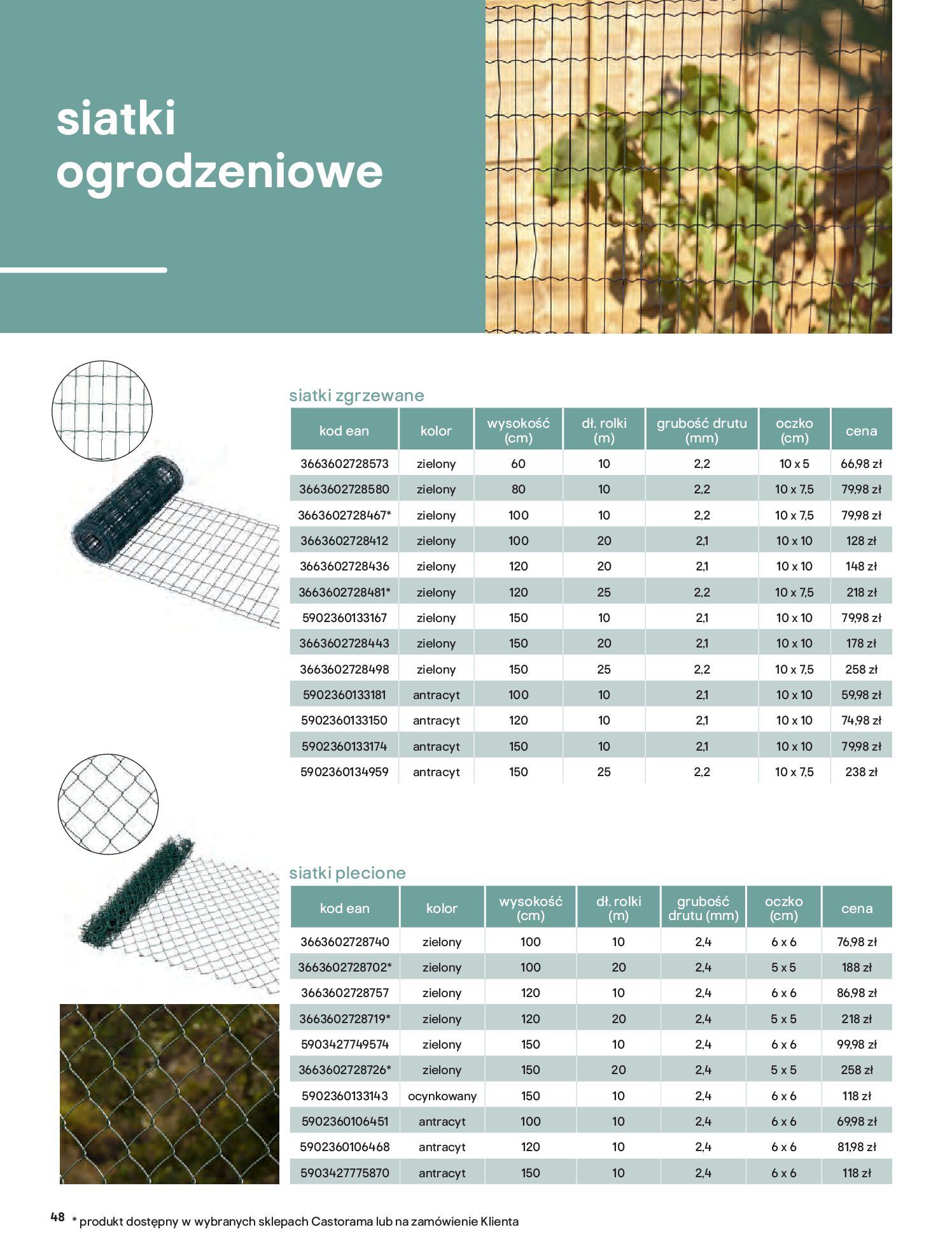 Gazetka Castorama: Przewodnik bramy i ogrodzenia 2021-02-08 page-48