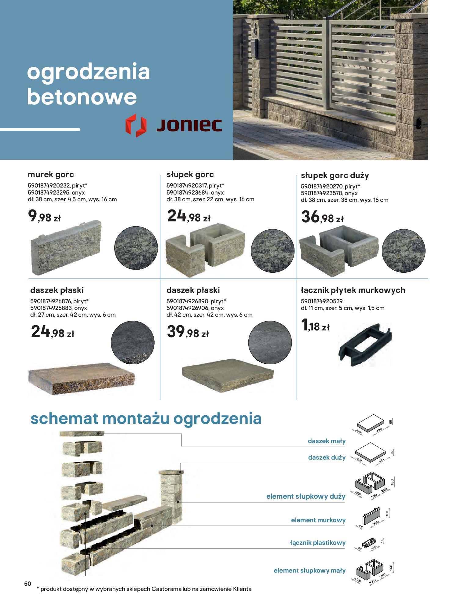 Gazetka Castorama: Przewodnik bramy i ogrodzenia 2021-02-08 page-50