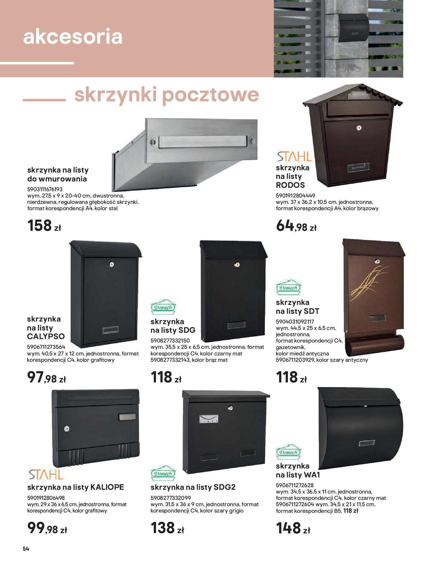Gazetka Castorama: Przewodnik bramy i ogrodzenia 2021-02-08 page-54