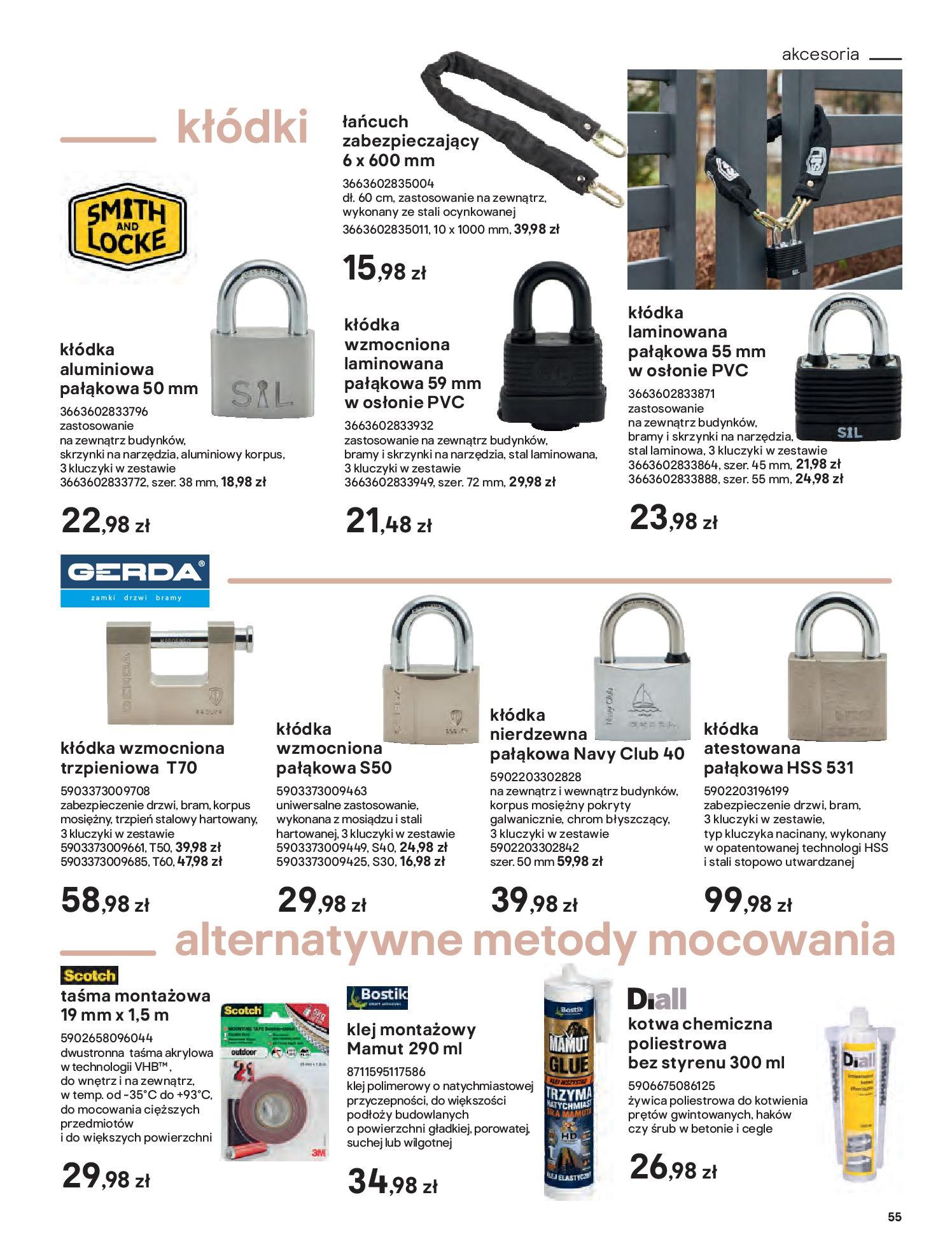 Gazetka Castorama: Przewodnik bramy i ogrodzenia 2021-02-08 page-55