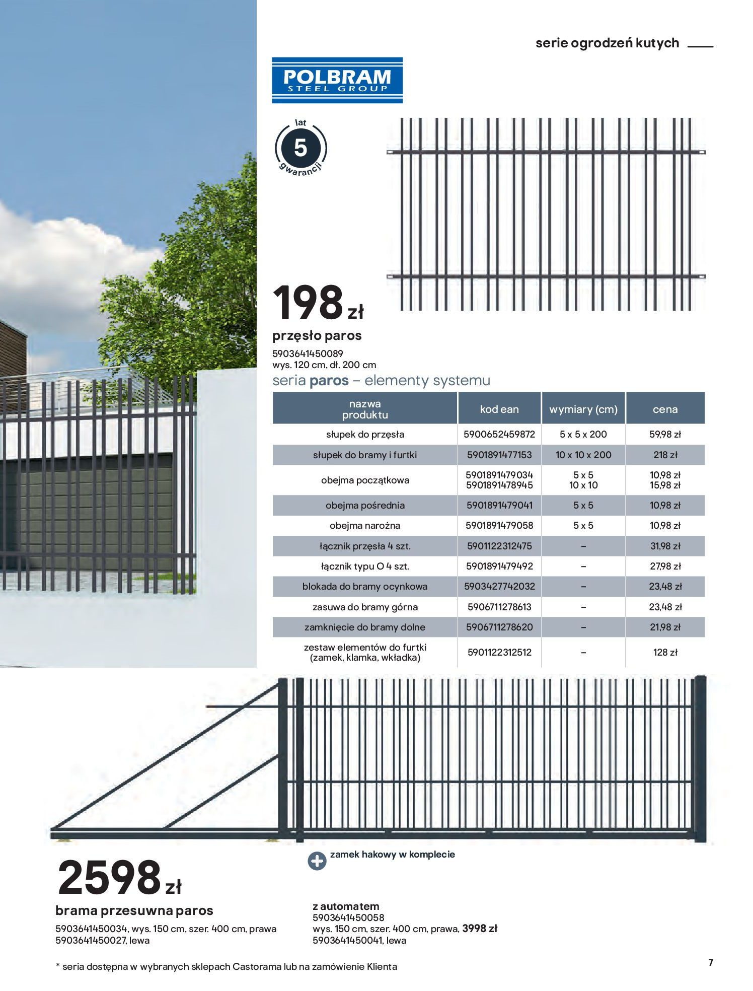 Gazetka Castorama: Przewodnik bramy i ogrodzenia 2021-02-08 page-7