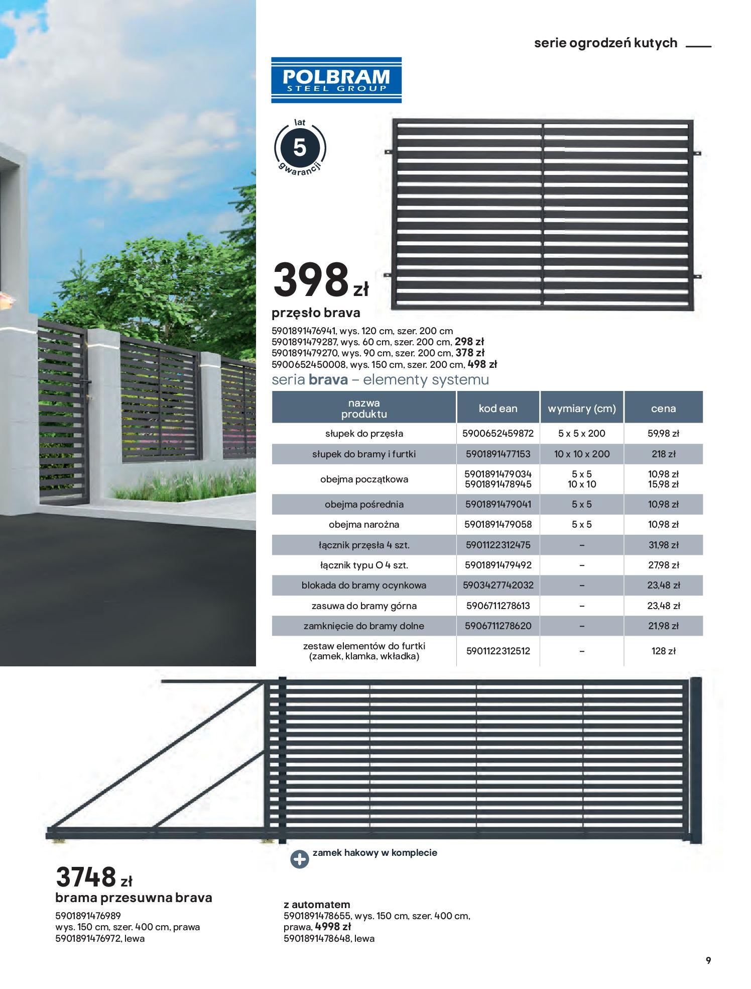 Gazetka Castorama: Przewodnik bramy i ogrodzenia 2021-02-08 page-9